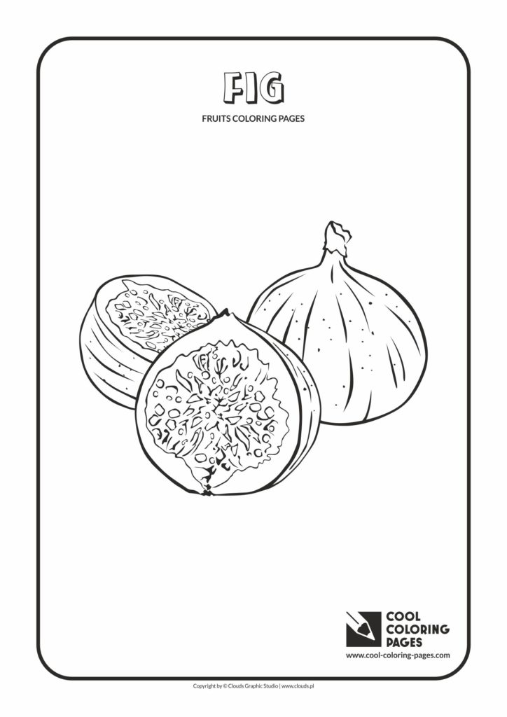 Cool Coloring Pages Fig Coloring Page Cool Coloring
