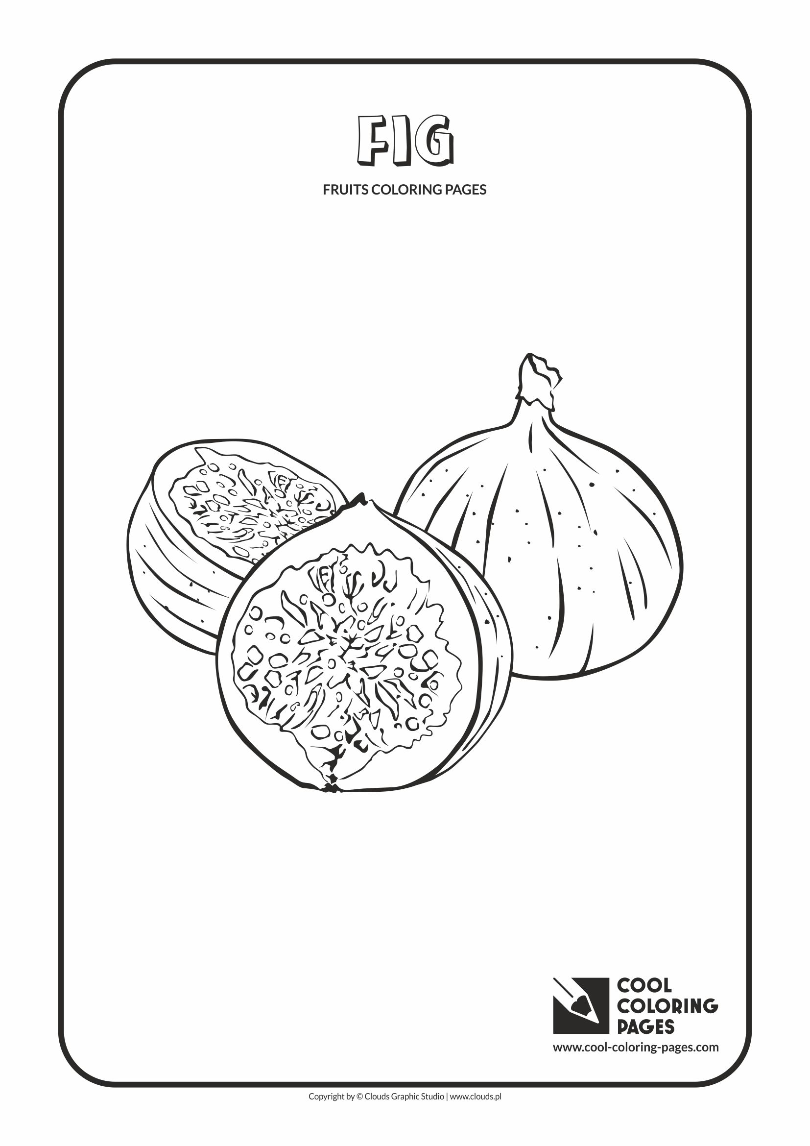 Cool Coloring Pages - Plants / Fig / Coloring page with fig