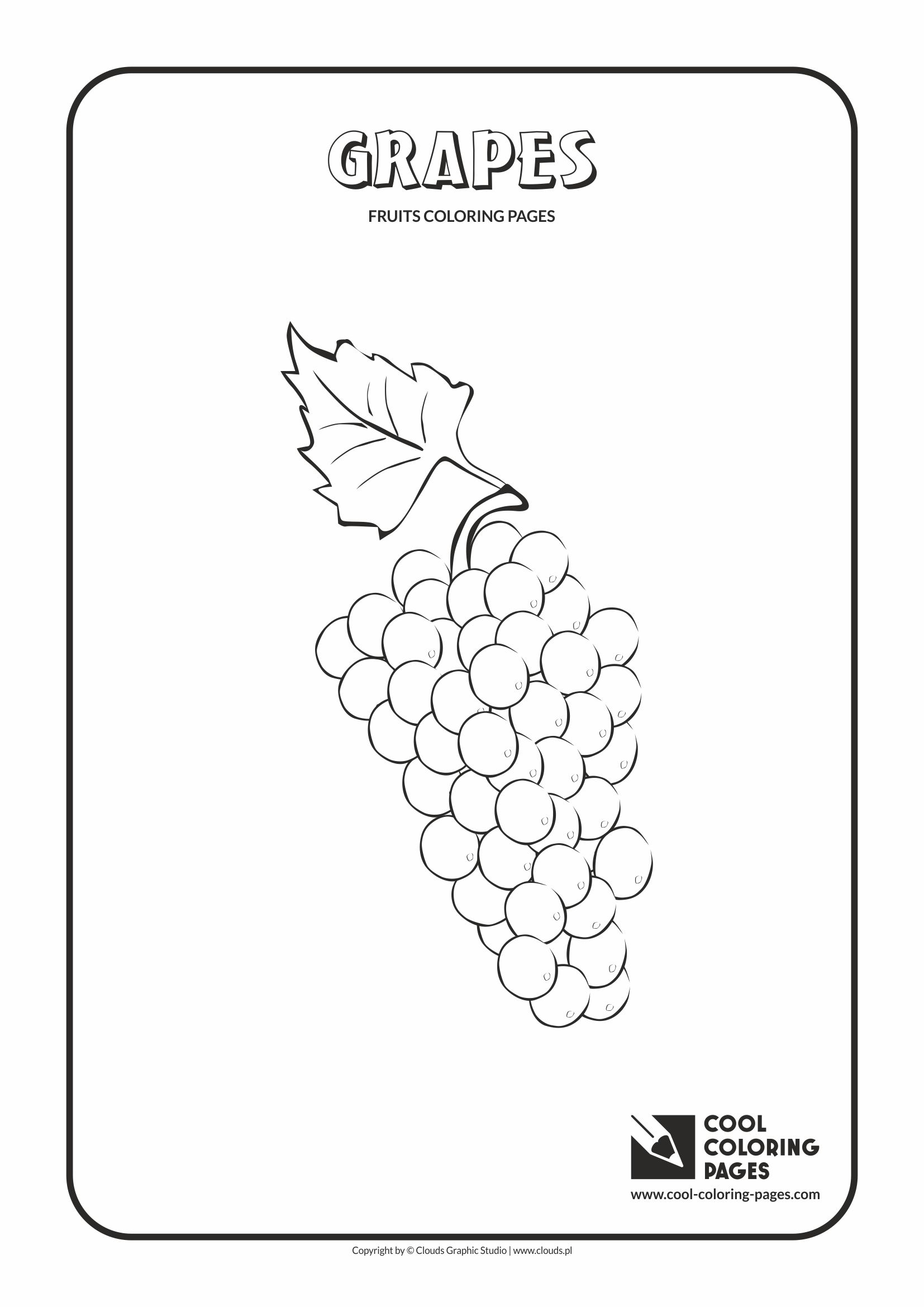 Cool Coloring Pages - Plants / Grapes / Coloring page with grapes