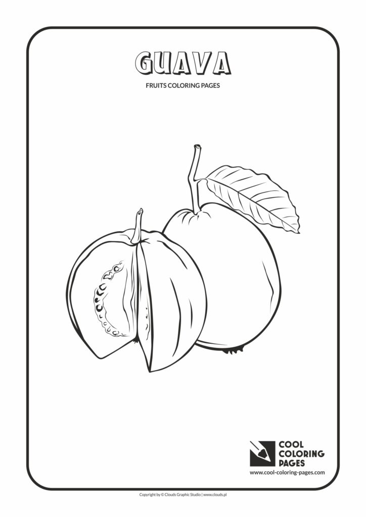 Cool Coloring Pages Guava coloring page Cool Coloring