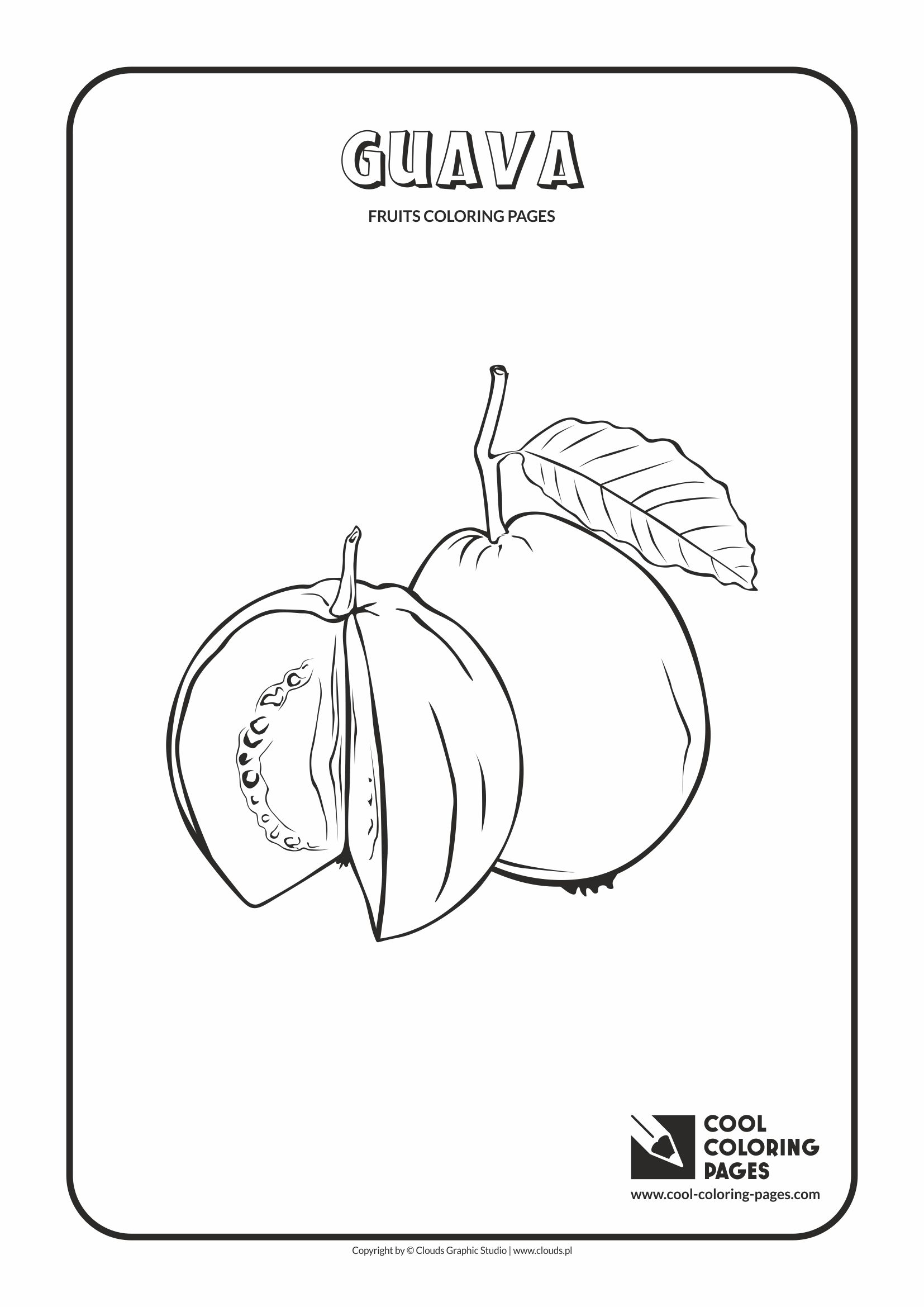 Cool Coloring Pages - Plants / Guava / Coloring page with guava