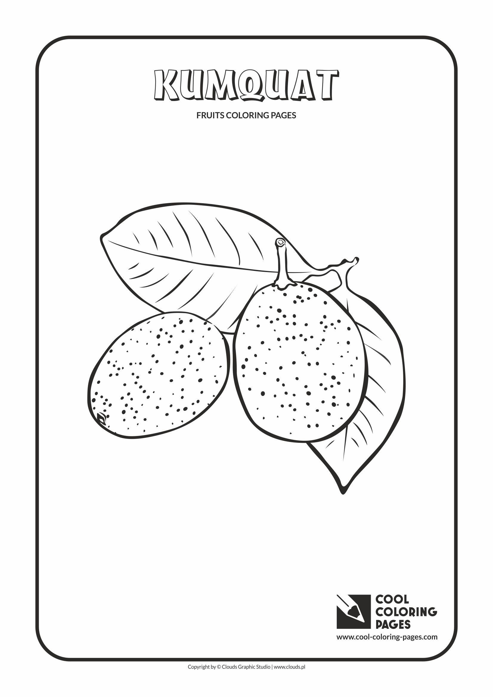 Cool Coloring Pages - Plants / Kumquat / Coloring page with kumquat