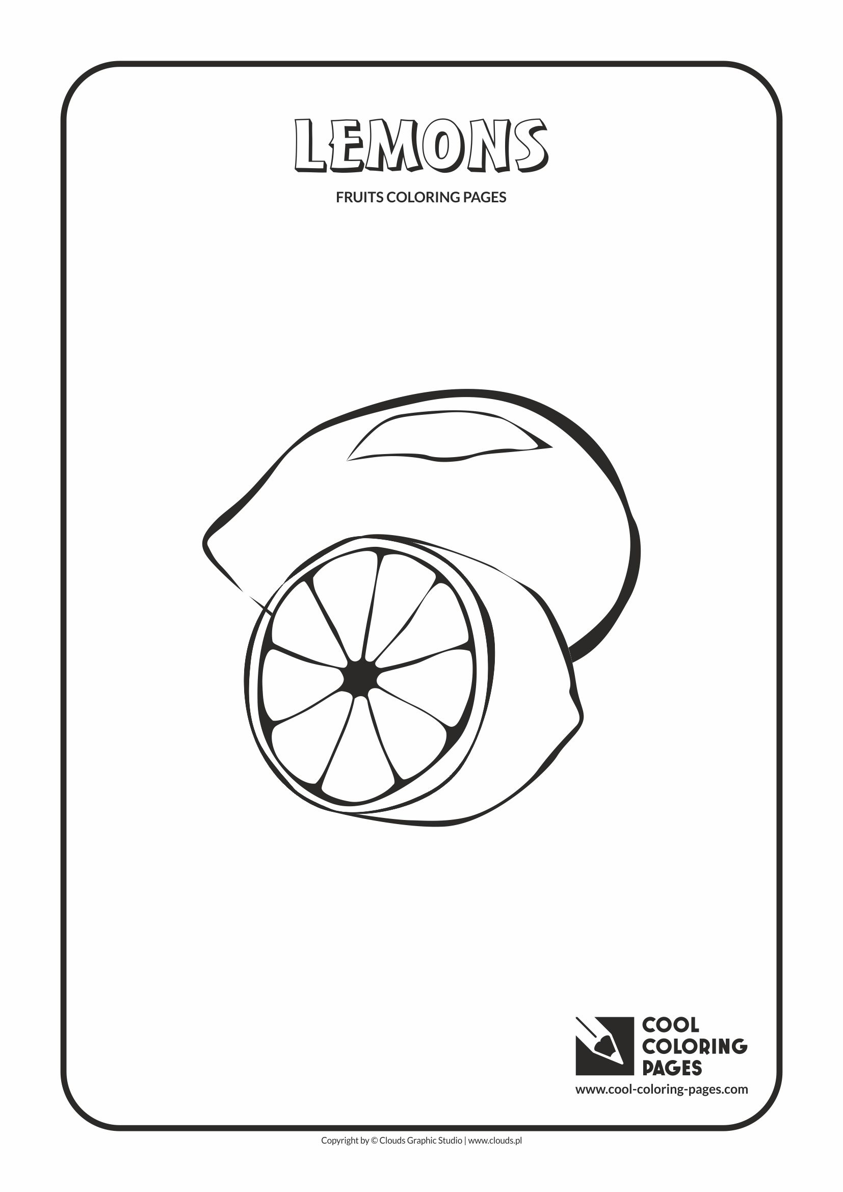 Cool Coloring Pages - Plants / Lemons / Coloring page with lemons