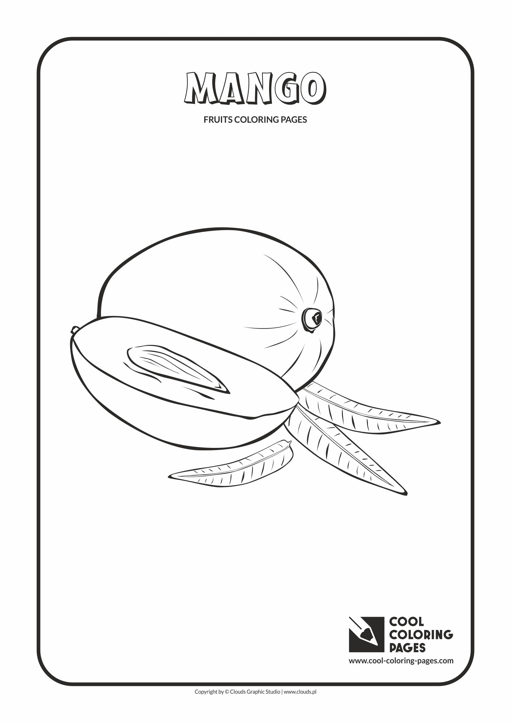 Cool Coloring Pages - Plants / Mango / Coloring page with mango