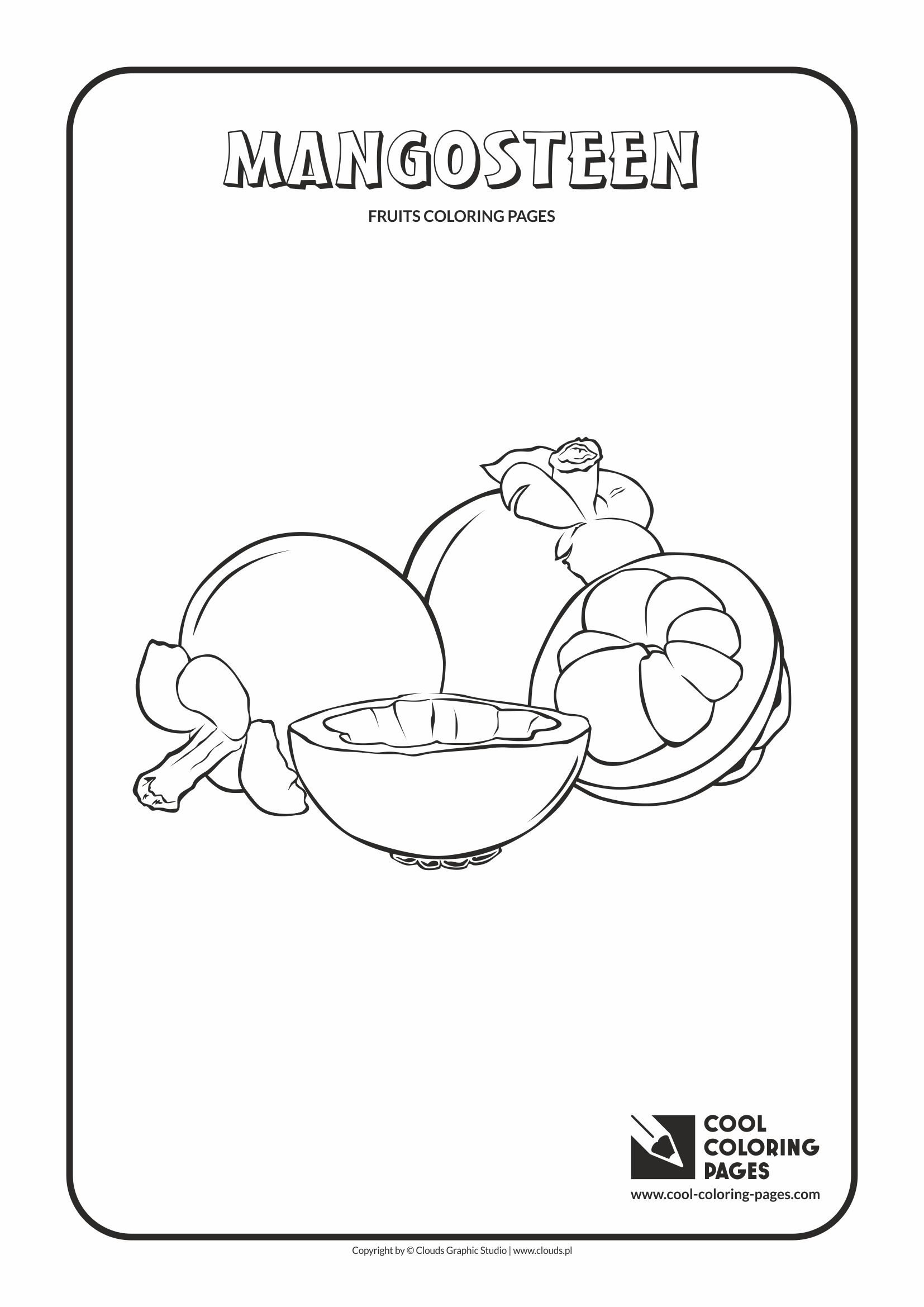 mangosteen coloring page circle time for kindergarten kids