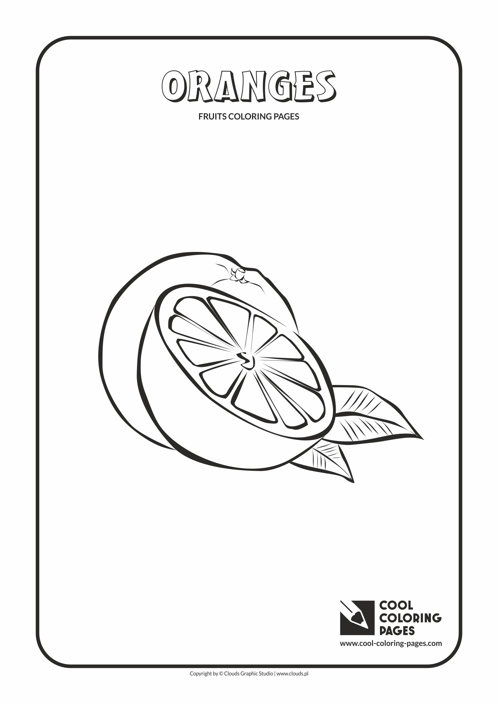Cool Coloring Pages - Plants / Oranges / Coloring page with oranges