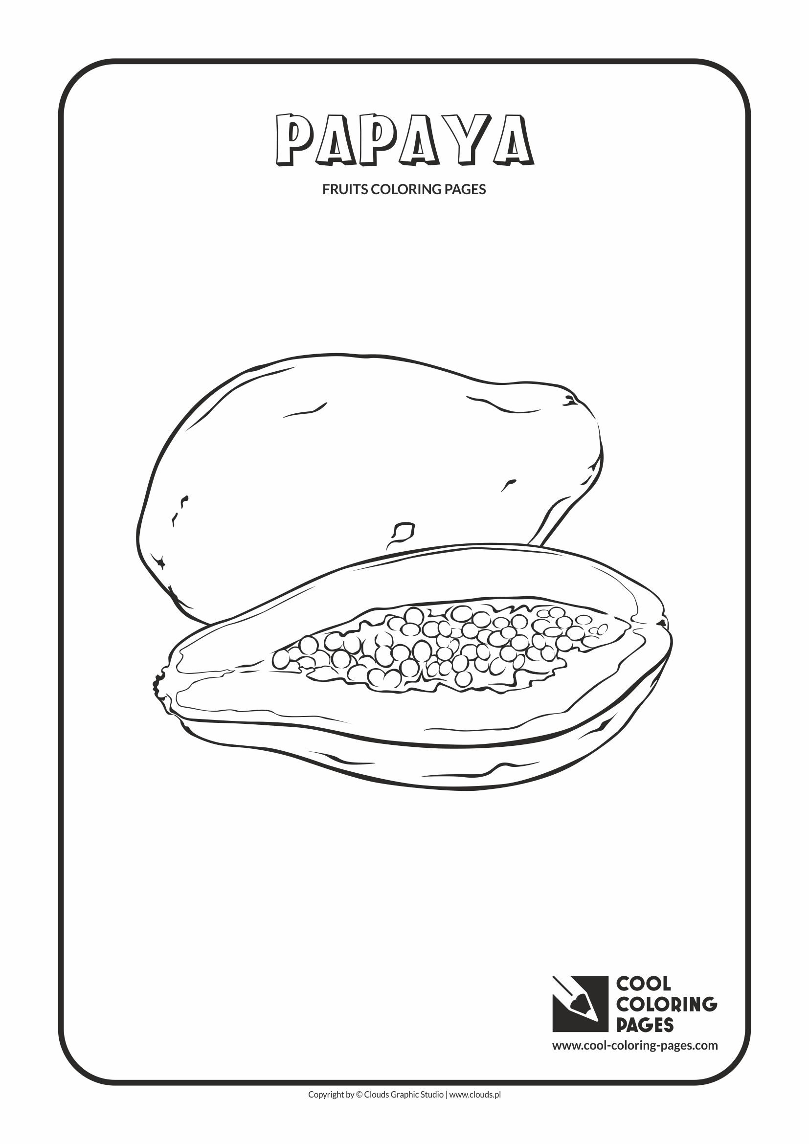 Cool Coloring Pages - Plants / Papaya / Coloring page with papaya