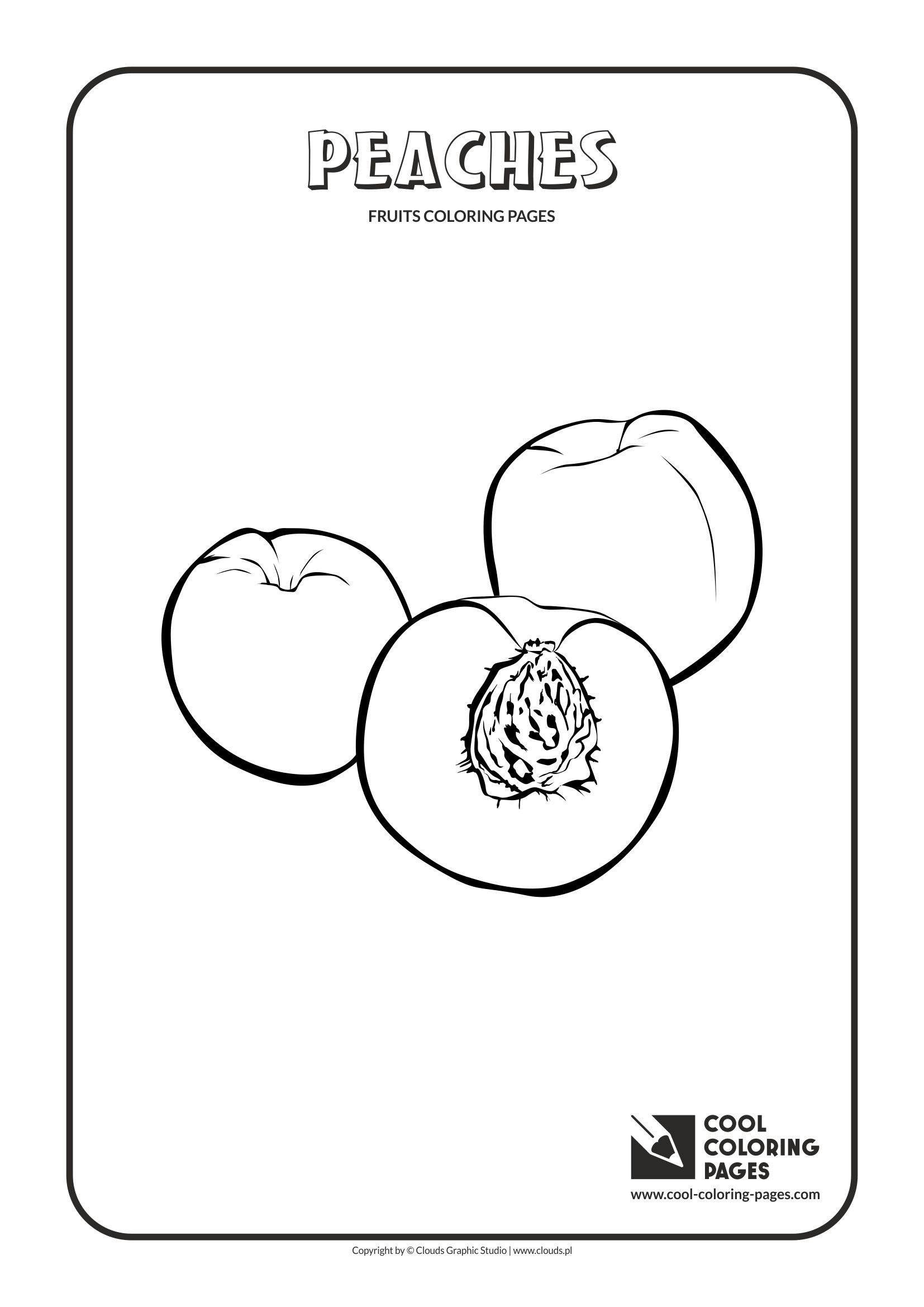 Cool Coloring Pages - Plants / Peaches / Coloring page with peaches