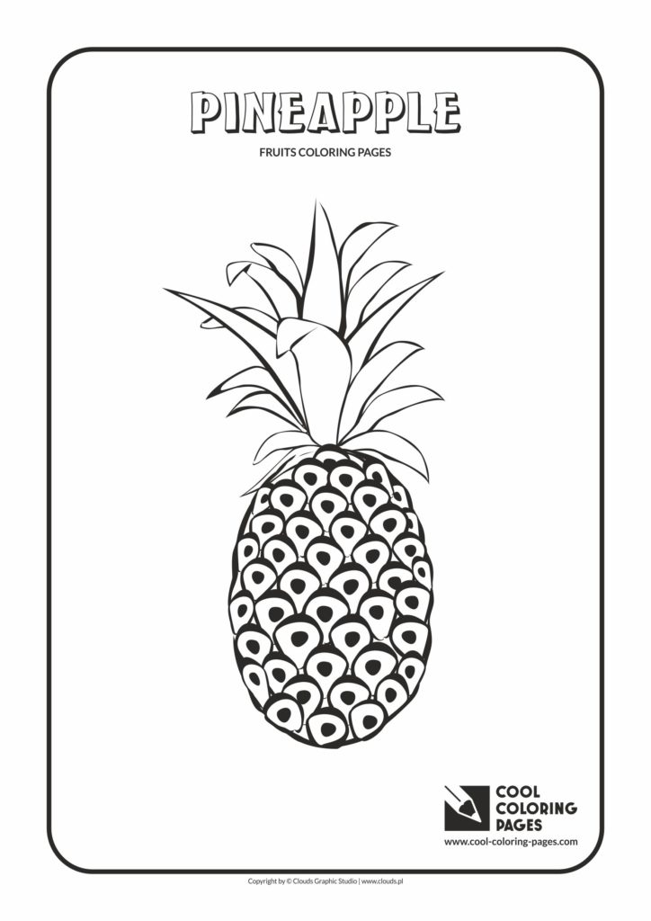Cool Coloring Pages Pineapple Coloring Page Cool