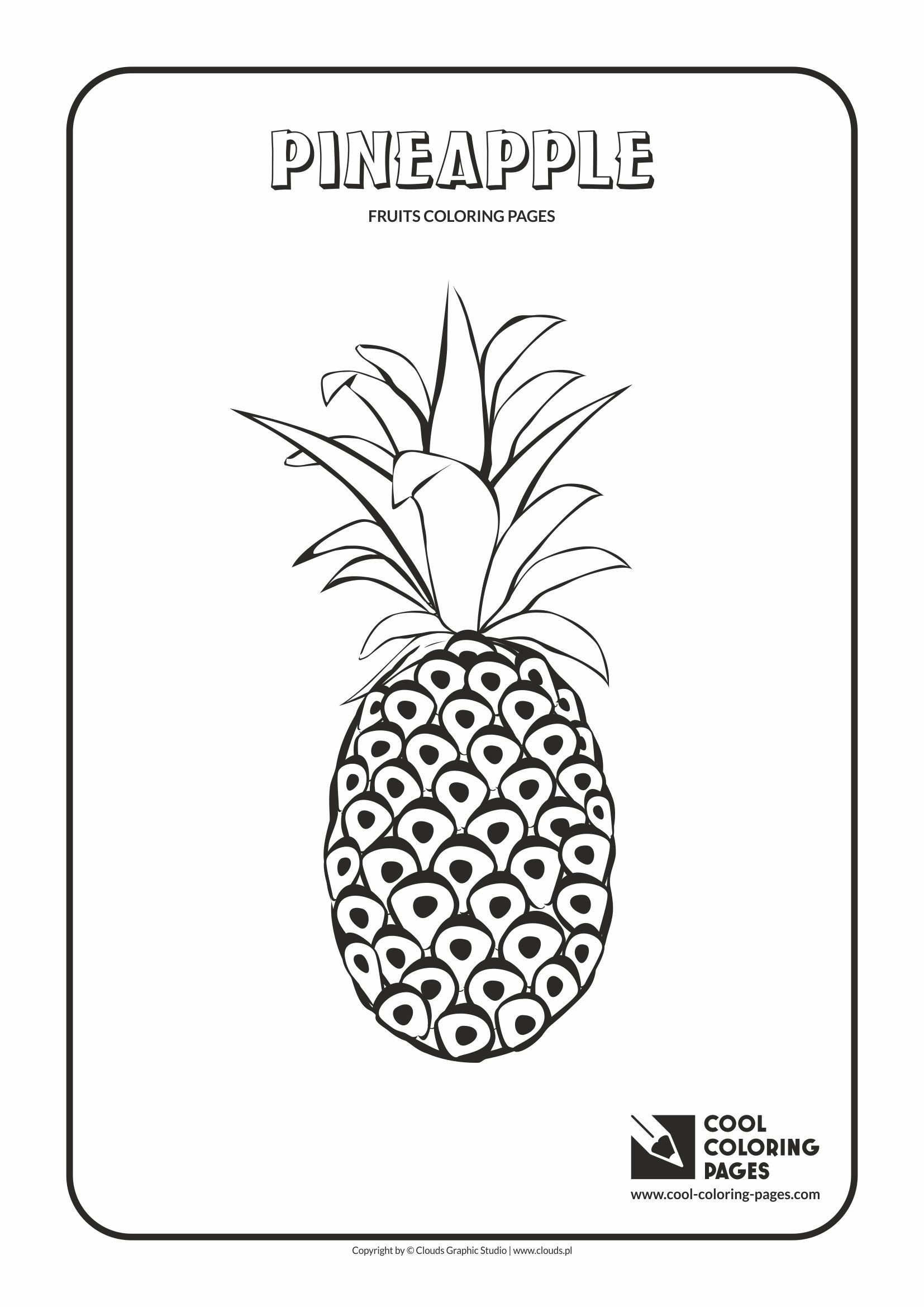 Cool Coloring Pages - Plants / Pineapple / Coloring page with pineapple