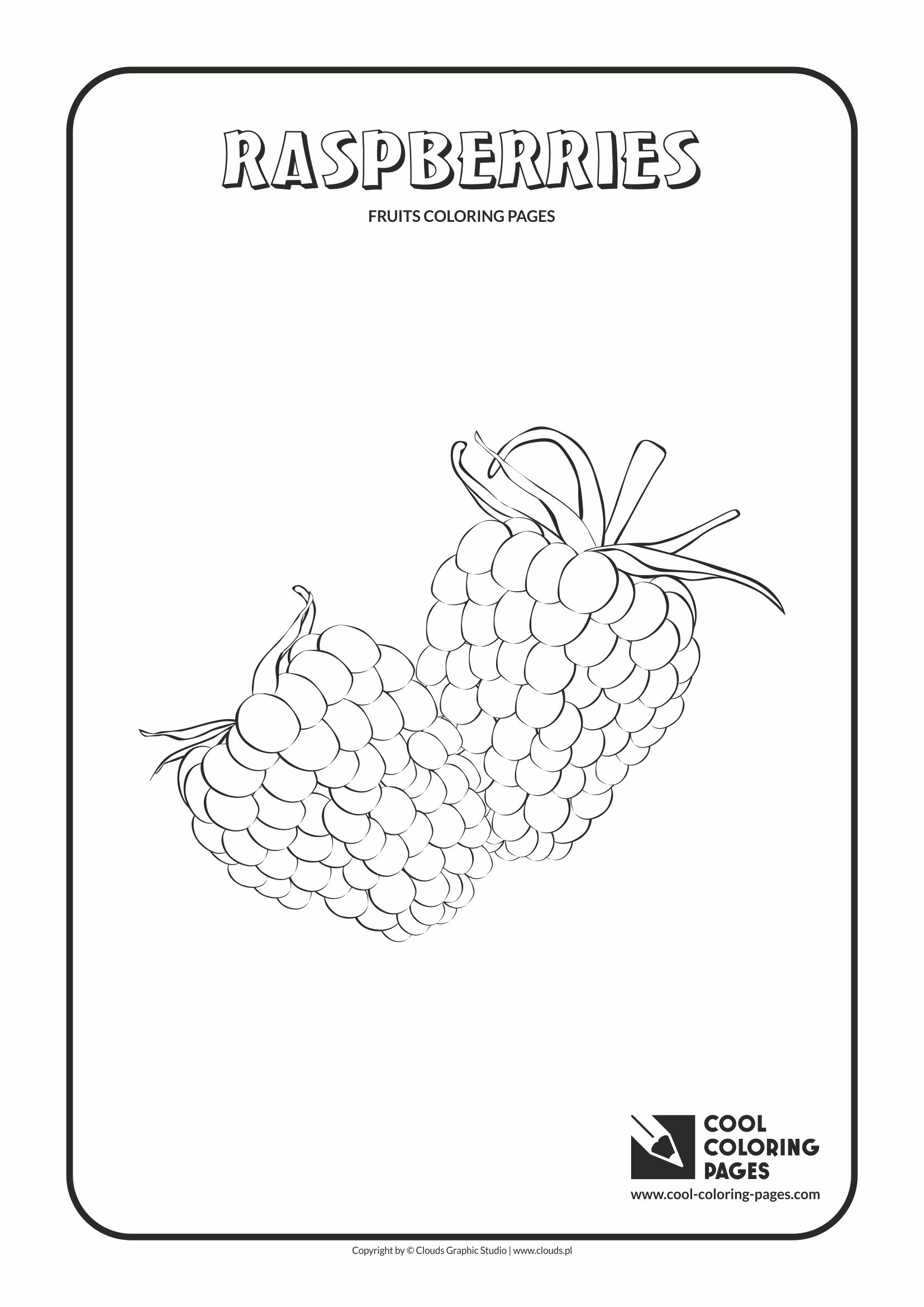 Cool Coloring Pages - Plants / Raspberries / Coloring page with raspberries