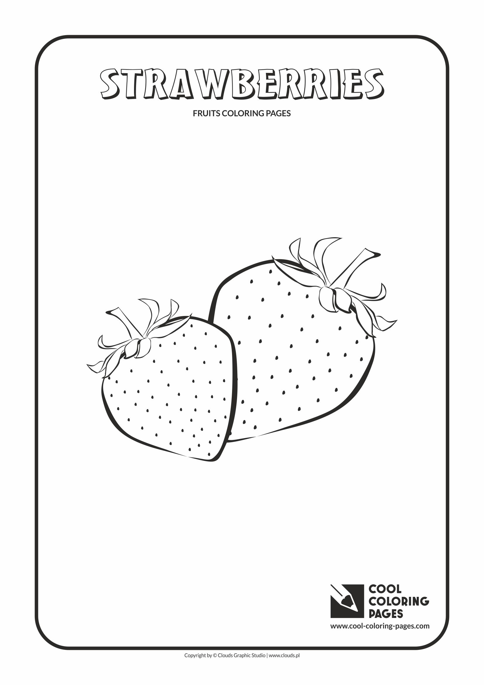 Cool Coloring Pages - Plants / Strawberries / Coloring page with strawberries