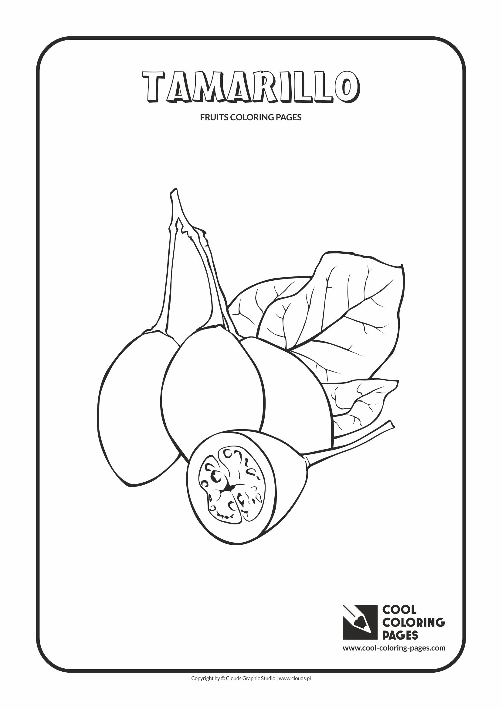 Cool Coloring Pages - Plants / Tamarillo / Coloring page with tamarillo
