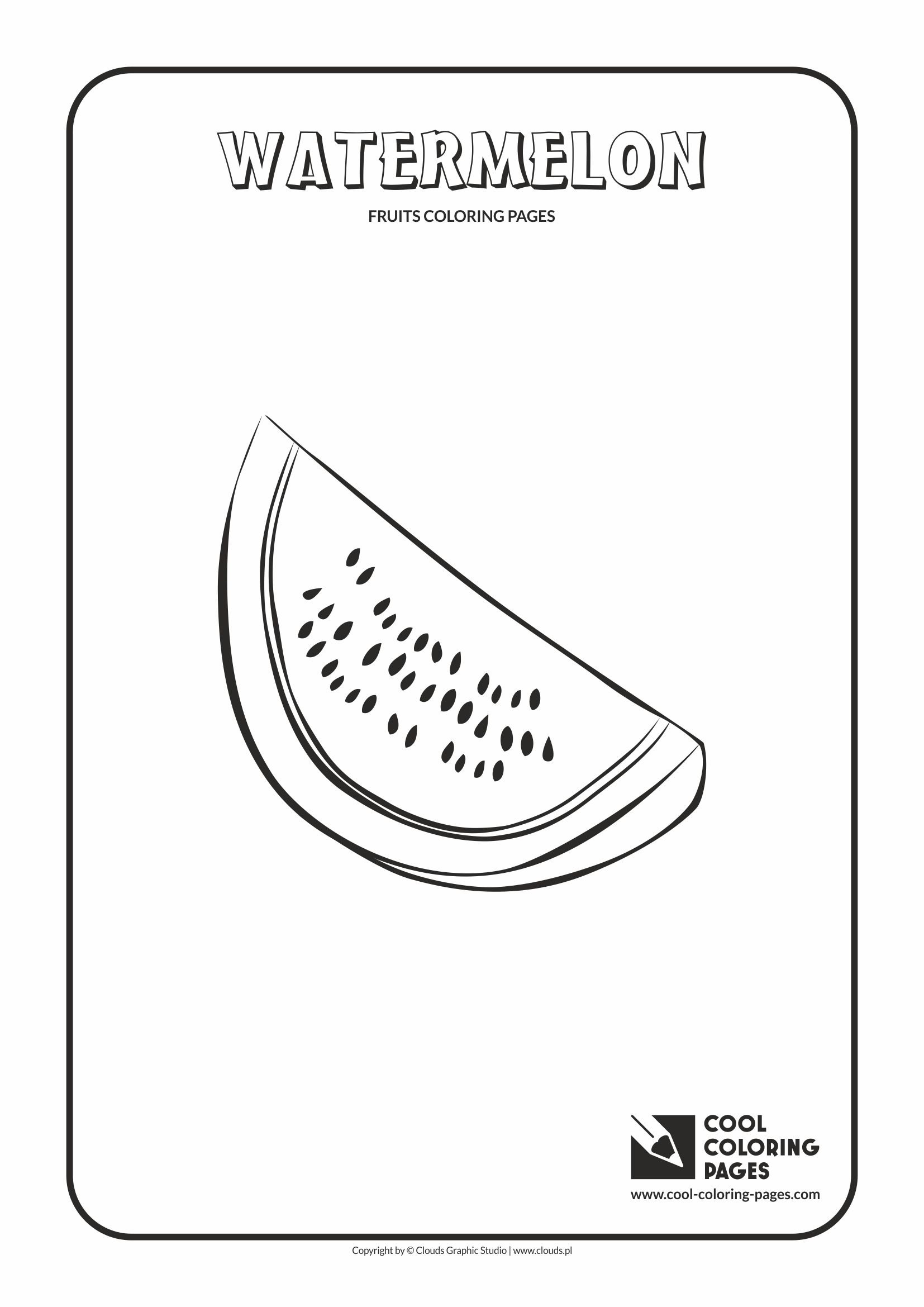 Cool Coloring Pages - Plants / Watermelon / Coloring page with watermelon