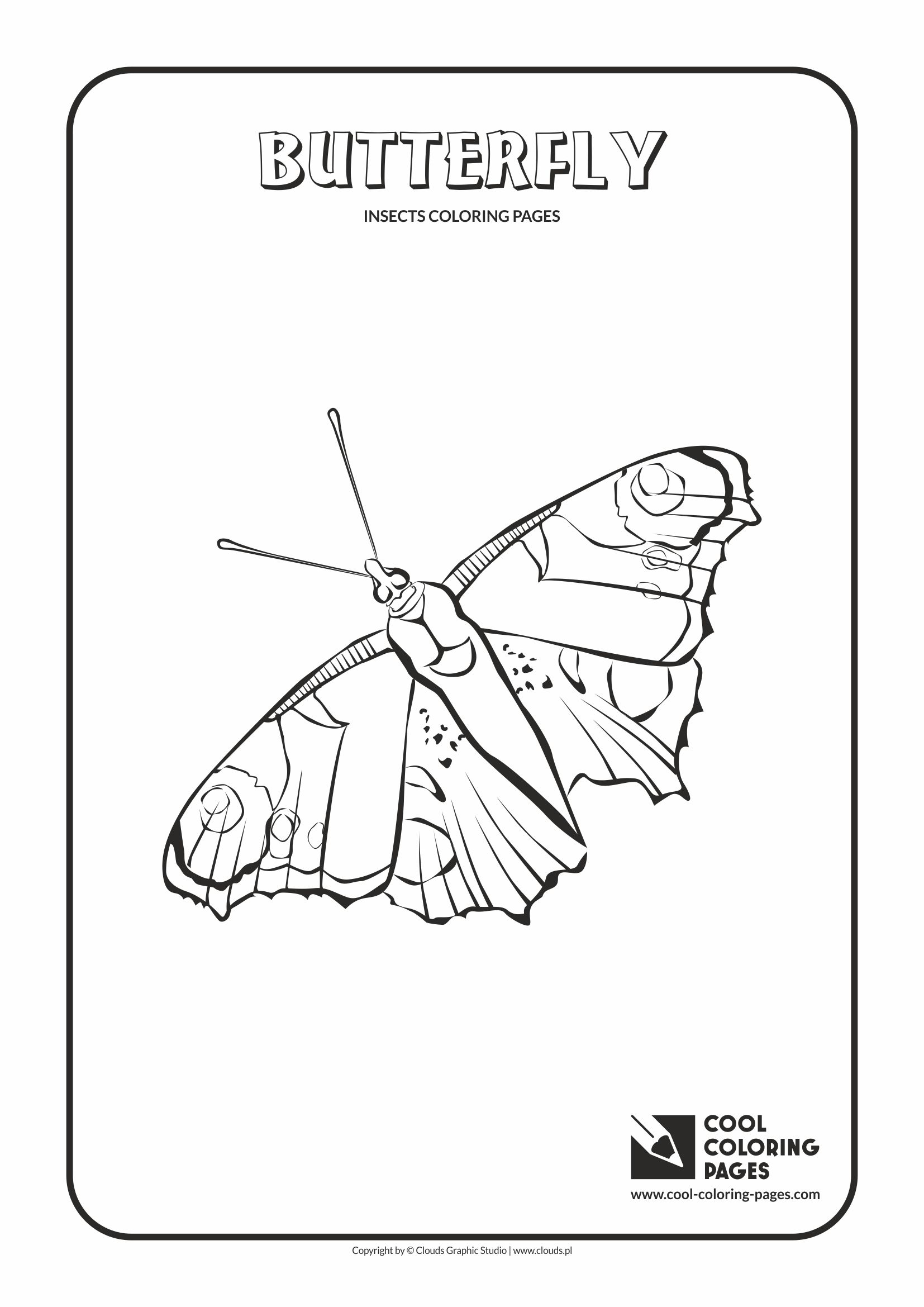 Cool Coloring Pages - Animals / Butterfly / Coloring page with butterfly