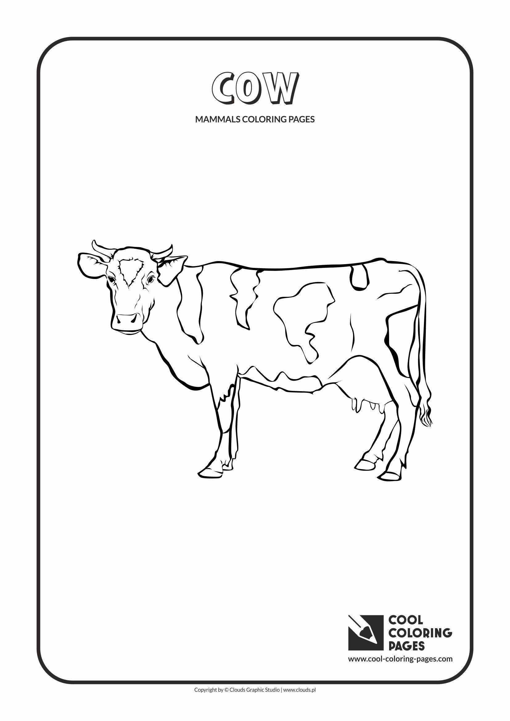 Cool Coloring Pages - Animals / Cow / Coloring page with cow