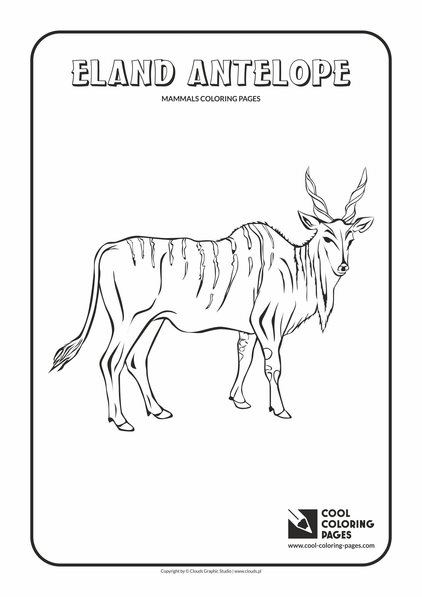 Cool Coloring Pages - Animals / Antelope eland / Coloring page with antelope eland