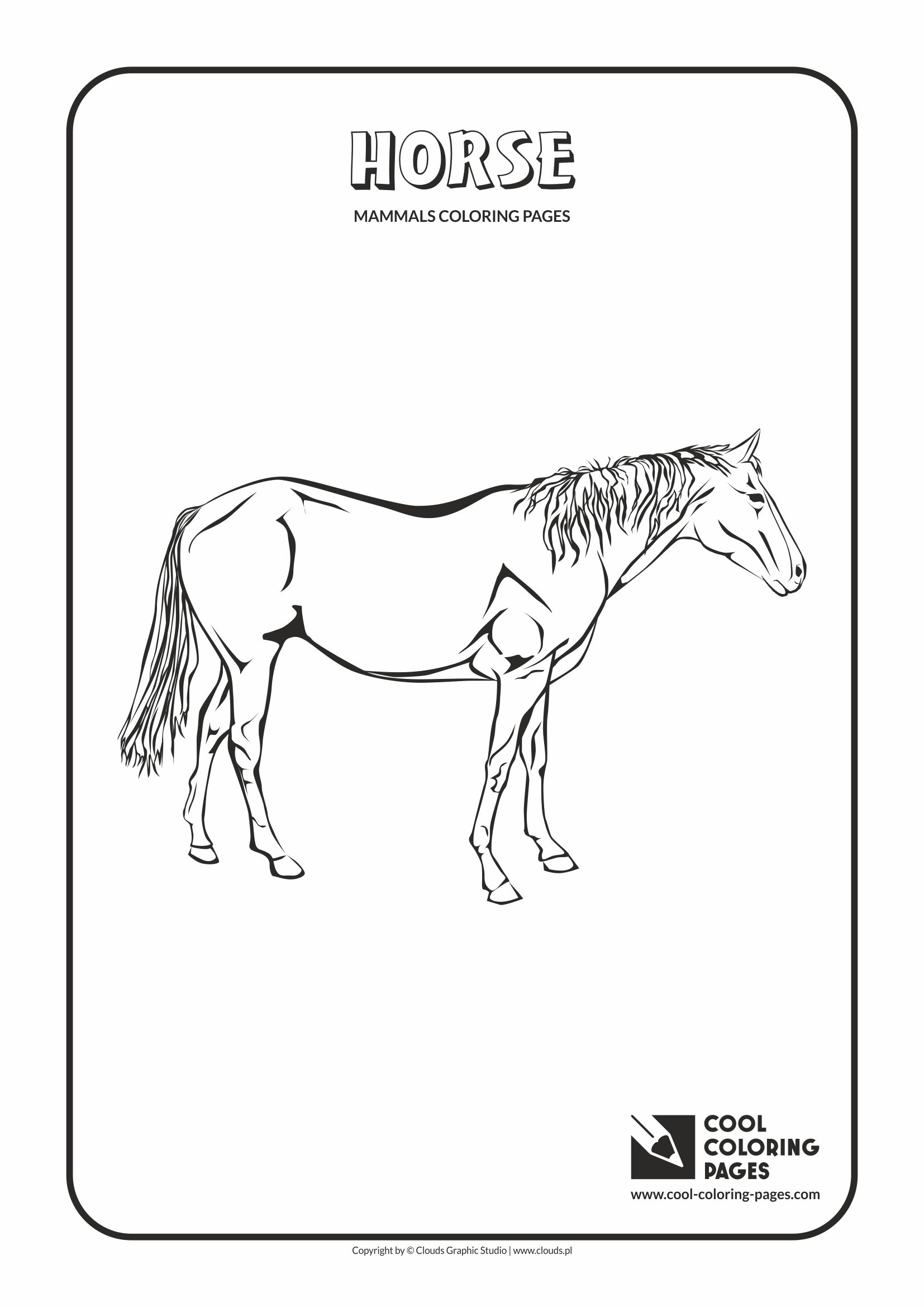 Cool Coloring Pages - Animals / Horse / Coloring page with horse