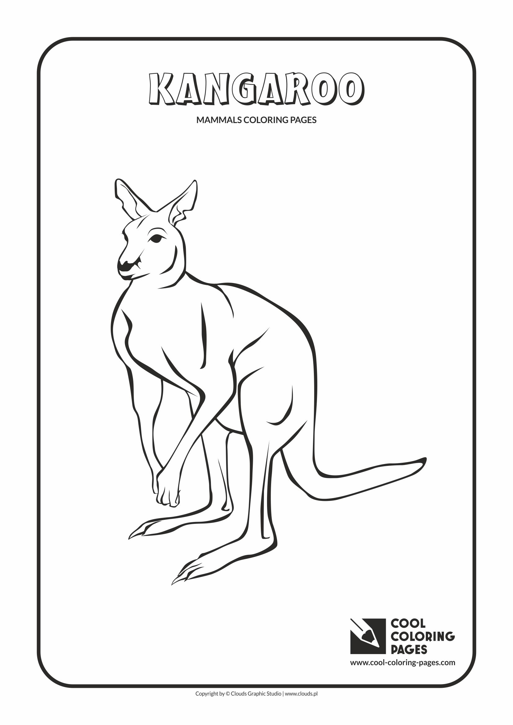 Cool Coloring Pages - Animals / Kangaroo / Coloring page with kangaroo