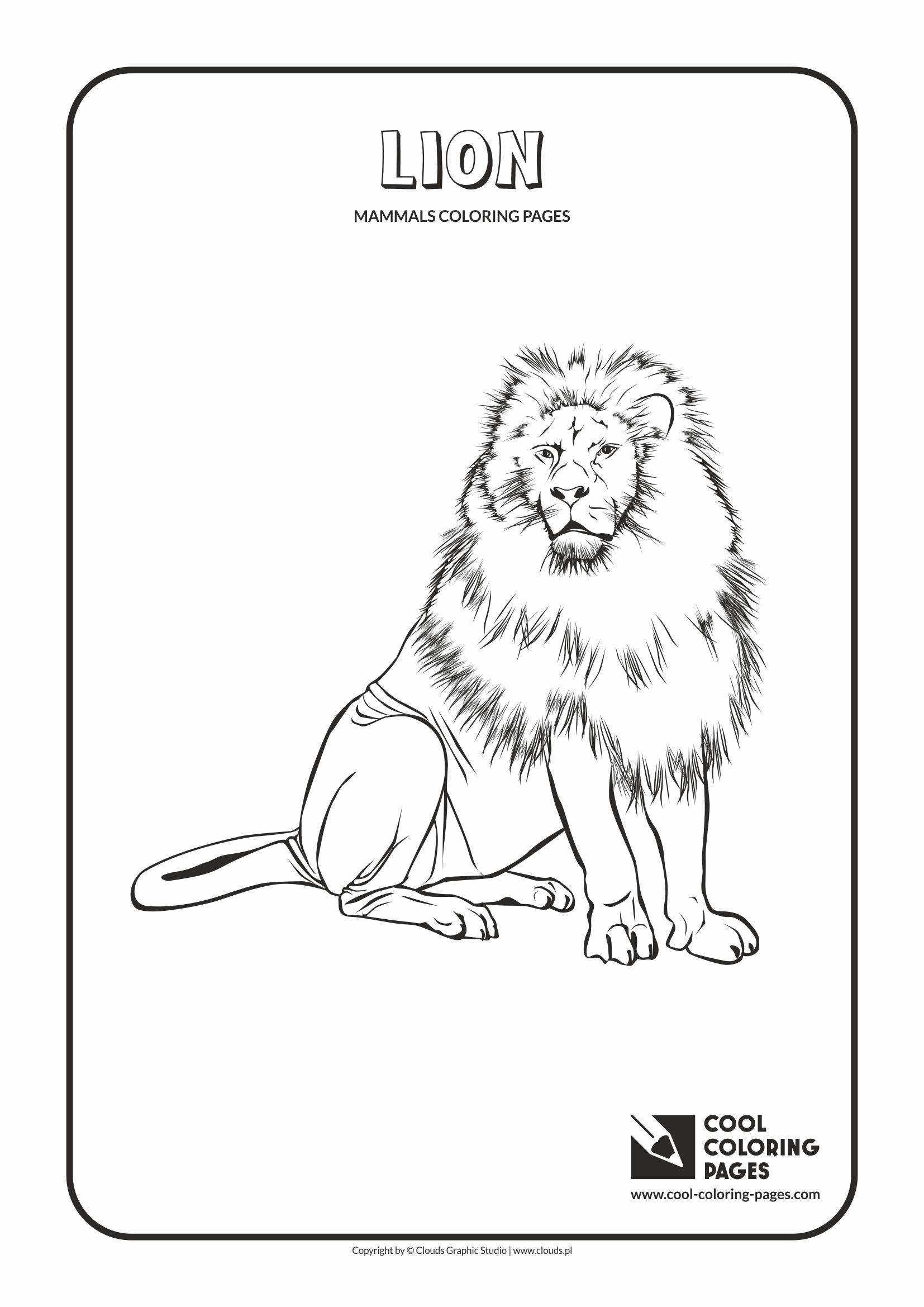 Cool Coloring Pages - Animals / Lion / Coloring page with lion