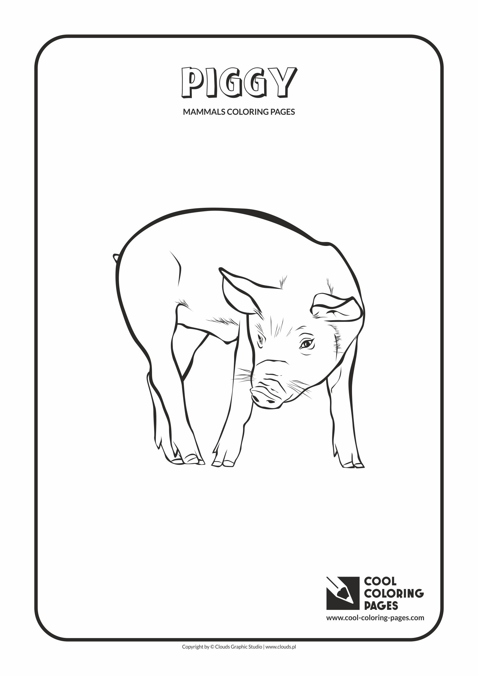 >Cool Coloring Pages - Animals / Piggy / Coloring page with piggy