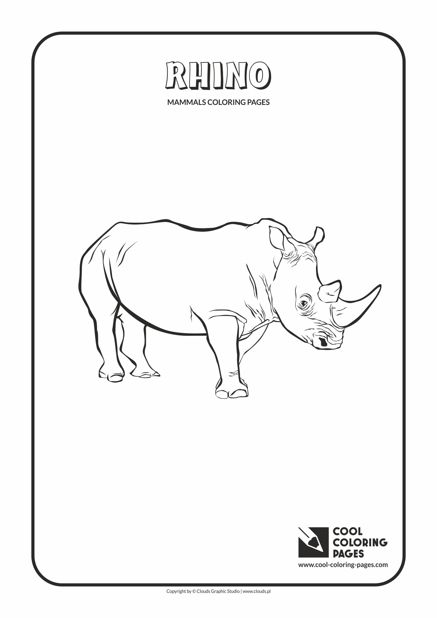 Cool Coloring Pages - Animals / Rhino / Coloring page with rhino