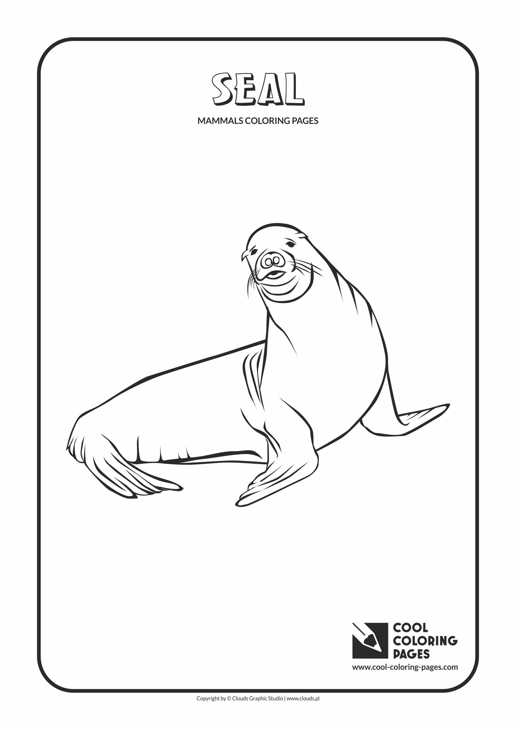 Cool Coloring Pages - Animals / Seal / Coloring page with seal