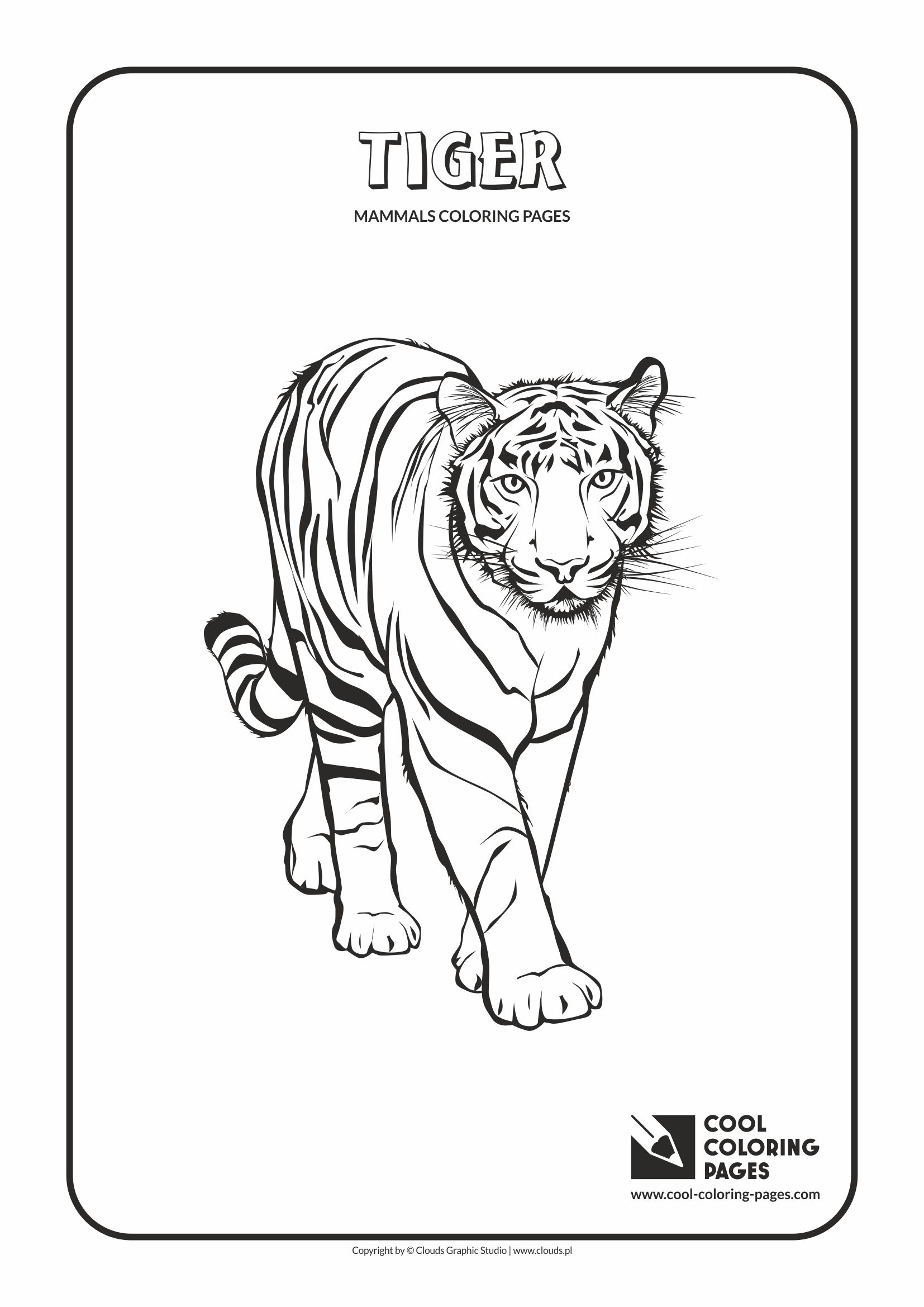 Cool Coloring Pages - Animals / Tiger / Coloring page with tiger
