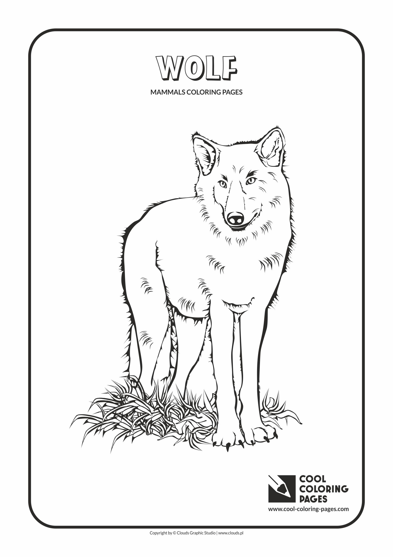 Cool Coloring Pages - Animals / Wolf / Coloring page with wolf
