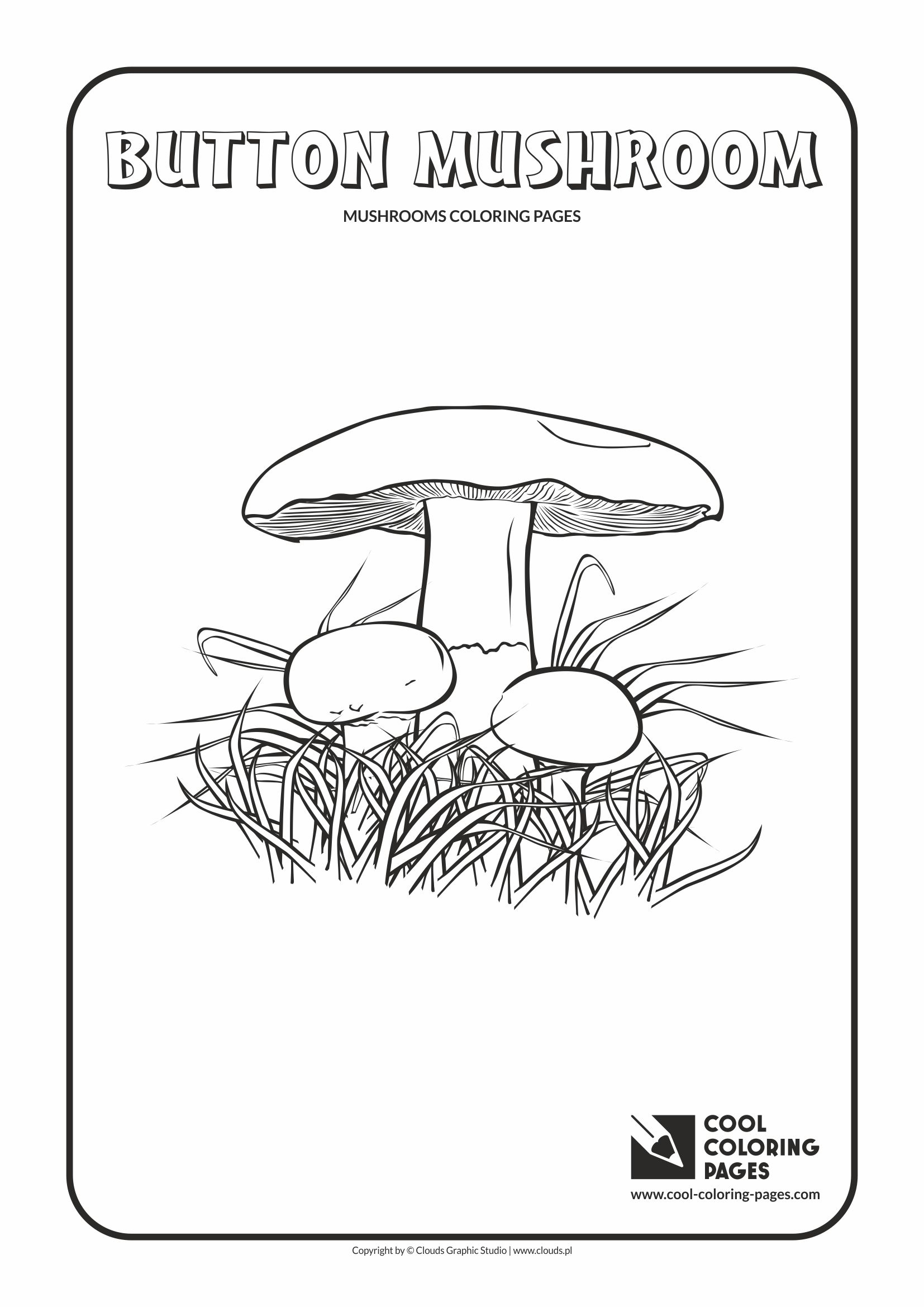 Cool Coloring Pages - Mushrooms / Button mushroom / Coloring page with button mushroom