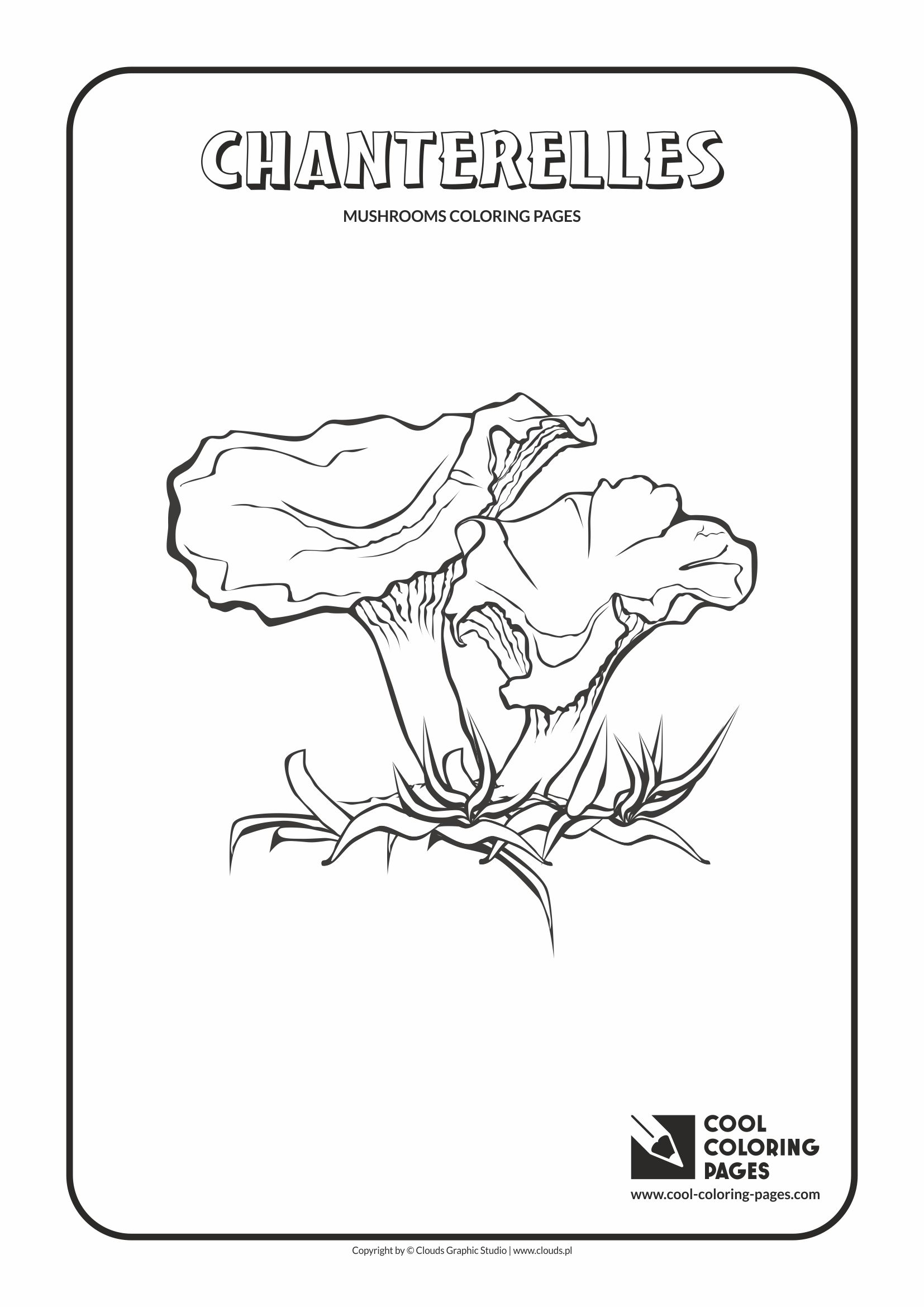 Cool Coloring Pages - Mushrooms / Chanterelles / Coloring page with chanterelles