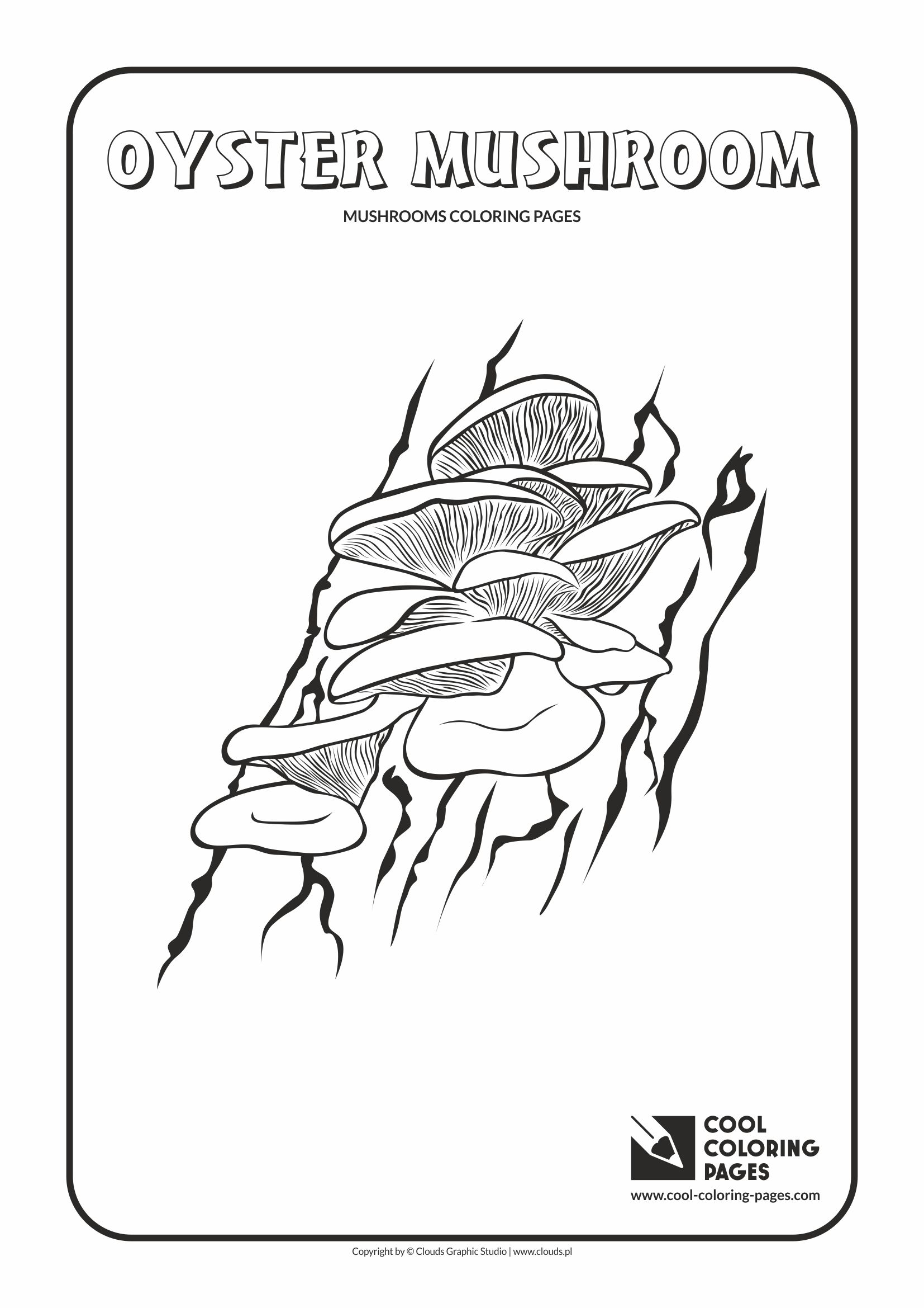 Cool Coloring Pages - Mushrooms / Oyster mushroom / Coloring page with oyster mushroom