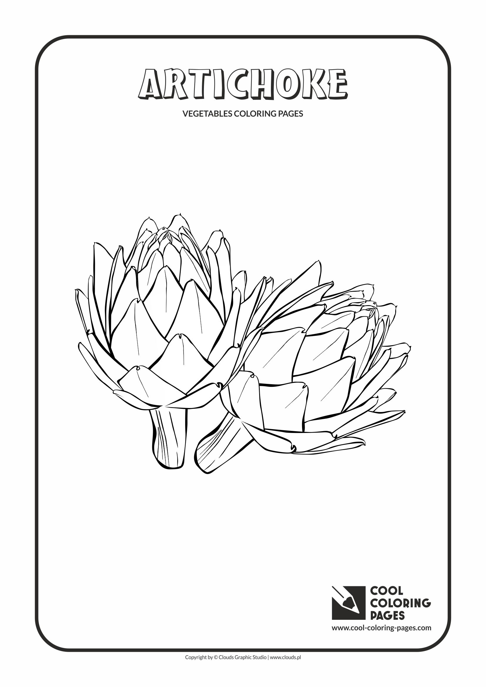 artichoke coloring page cool coloring pages