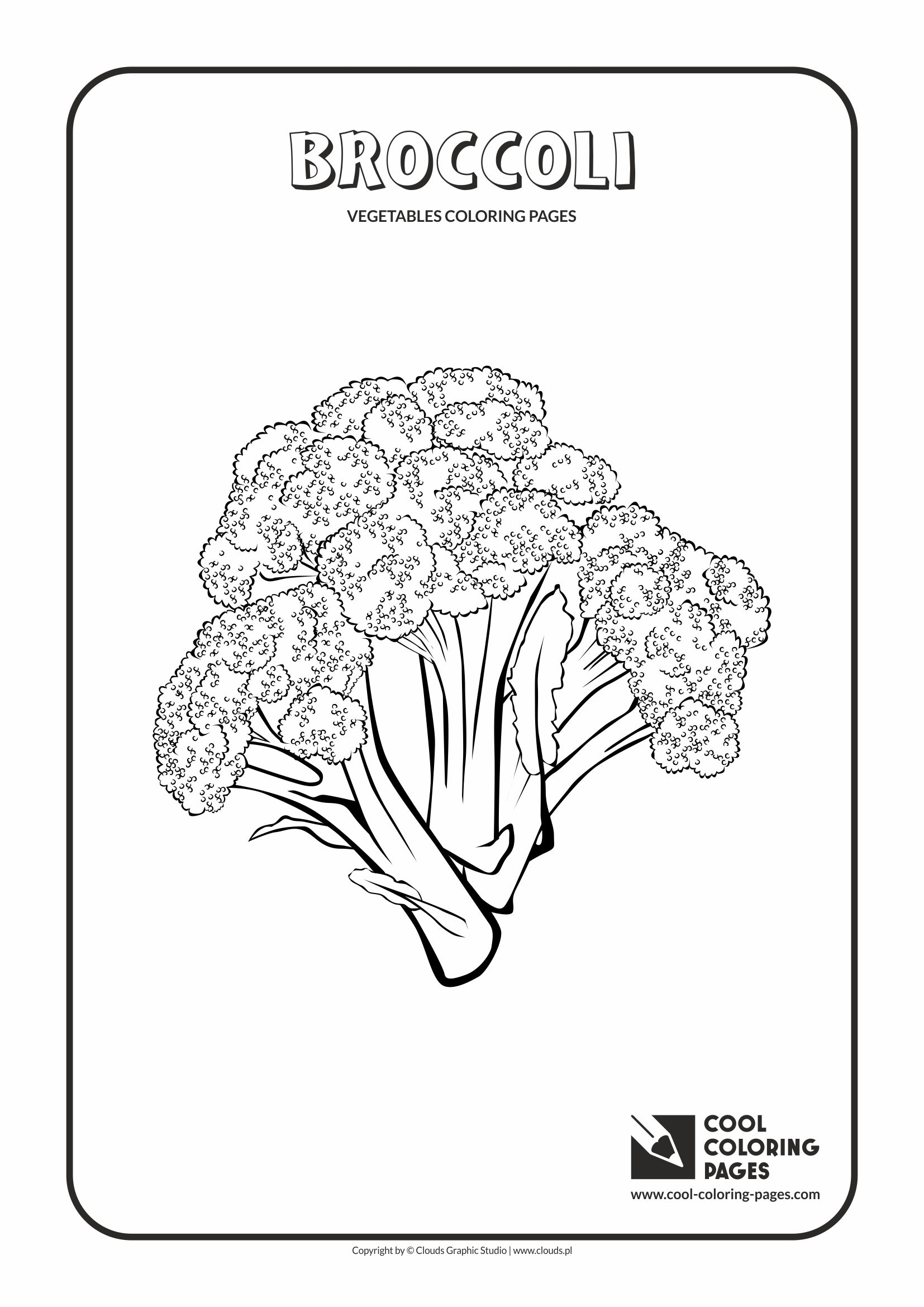 Cool Coloring Pages - Plants / Broccoli / Coloring page with broccoli