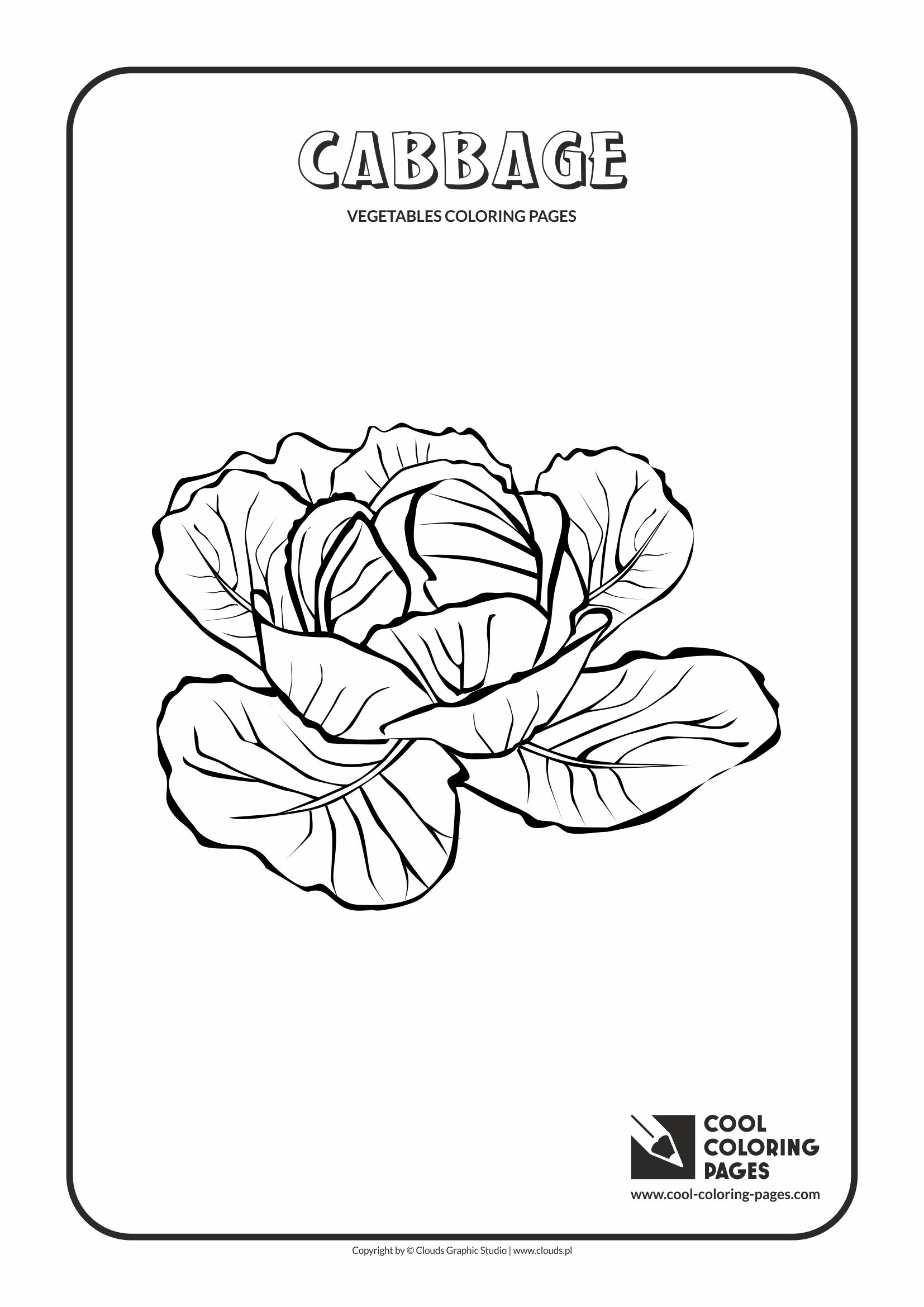 Cool Coloring Pages - Plants / Cabbage / Coloring page with cabbage