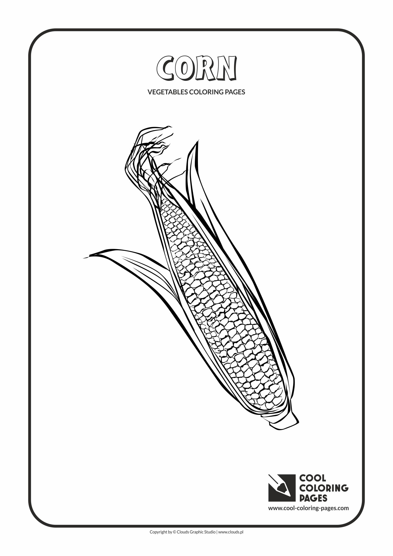 Cool Coloring Pages - Plants / Corn / Coloring page with corn
