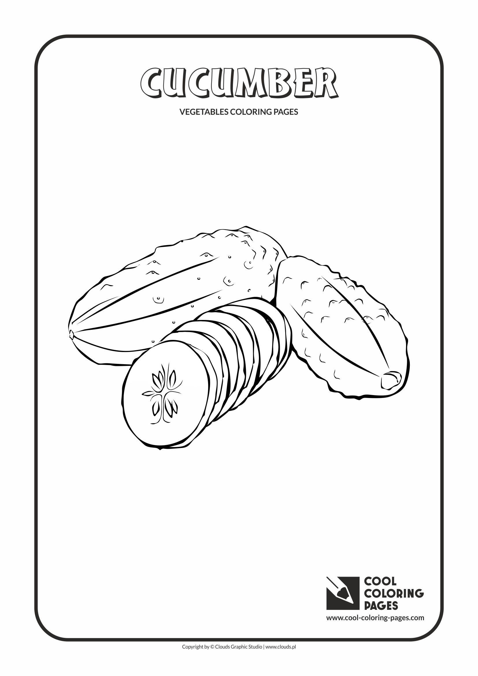 Cool Coloring Pages - Plants / Cucumber / Coloring page with cucumber