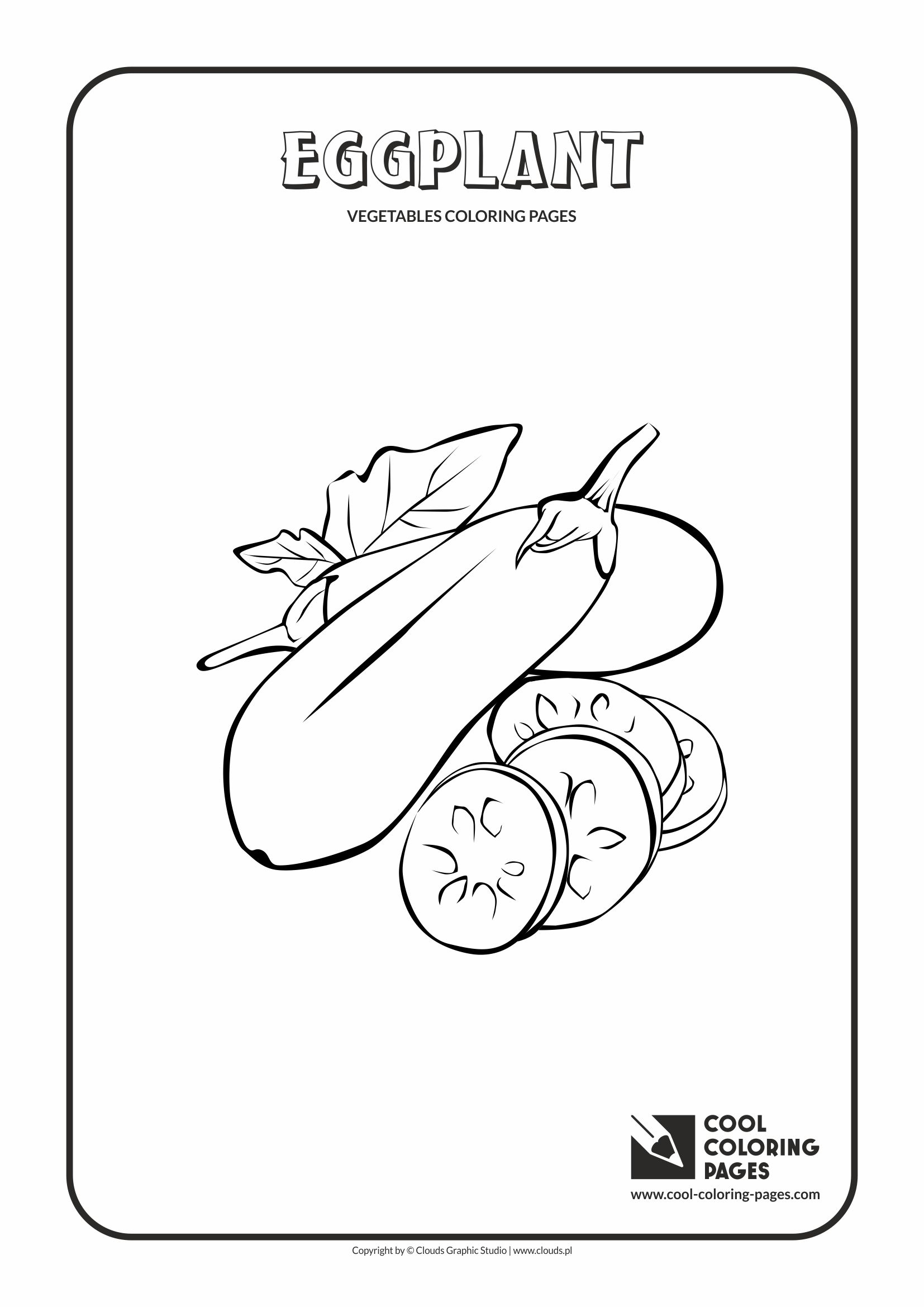 Cool Coloring Pages - Plants / Eggplant / Coloring page with eggplant