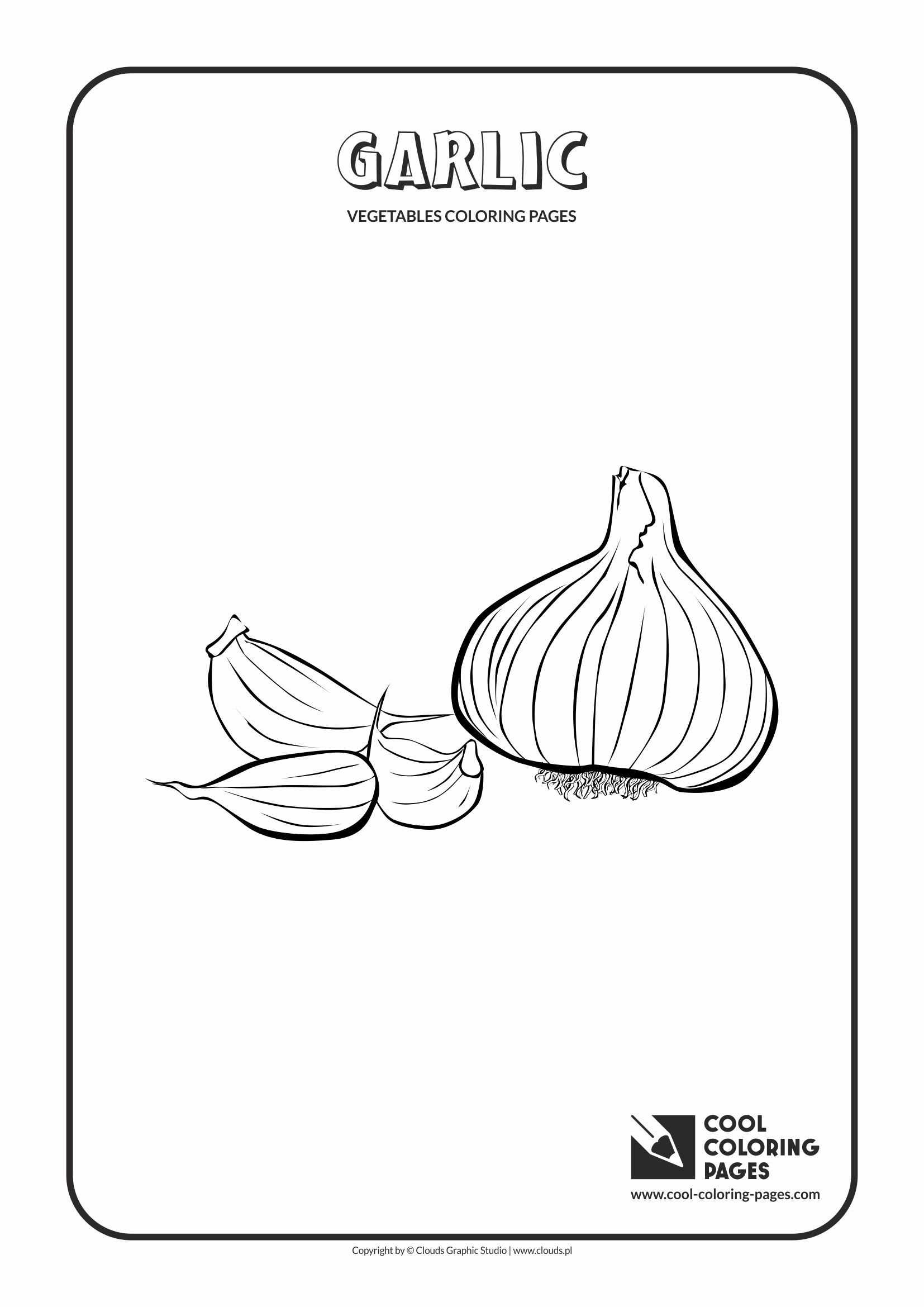 Cool Coloring Pages - Plants / Garlic / Coloring page with garlic