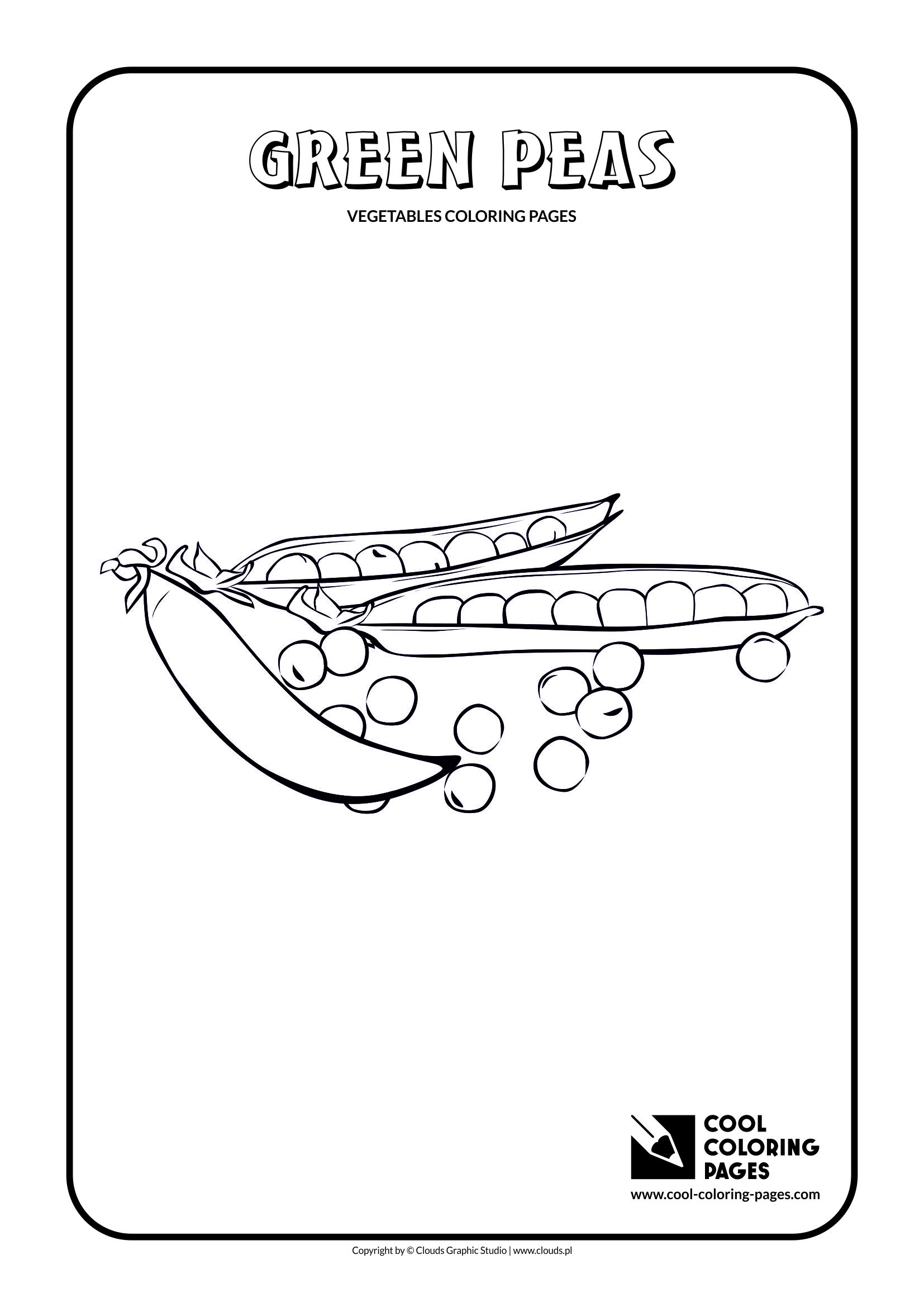 Cool Coloring Pages - Plants / Green peas / Coloring page with green peas
