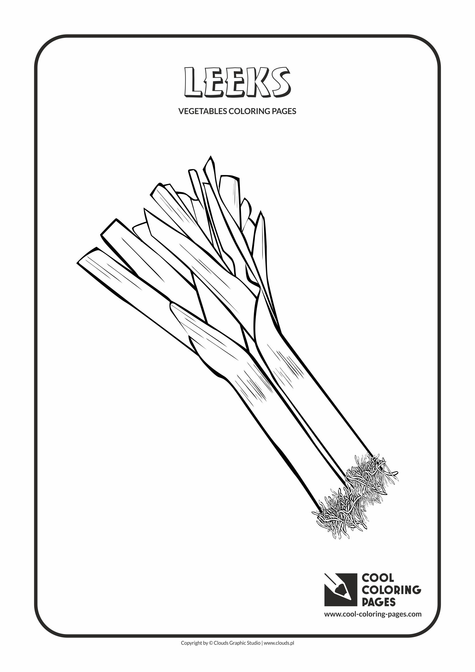 leeks coloring page cool coloring pages