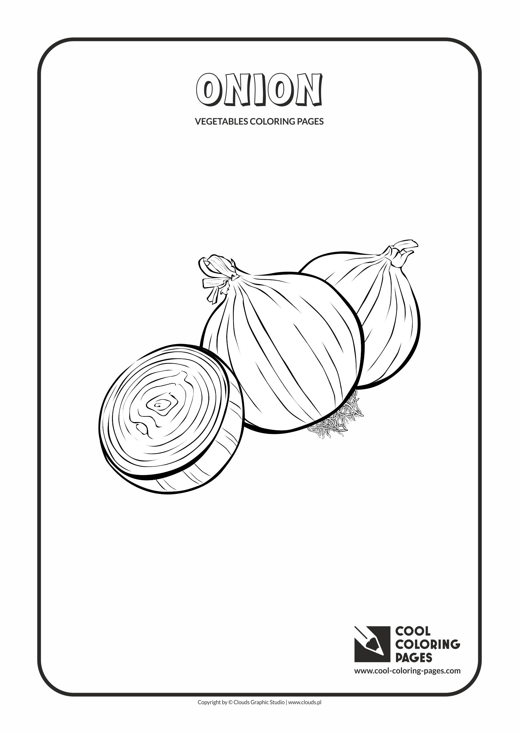 Cool Coloring Pages - Plants / Onion / Coloring page with onion