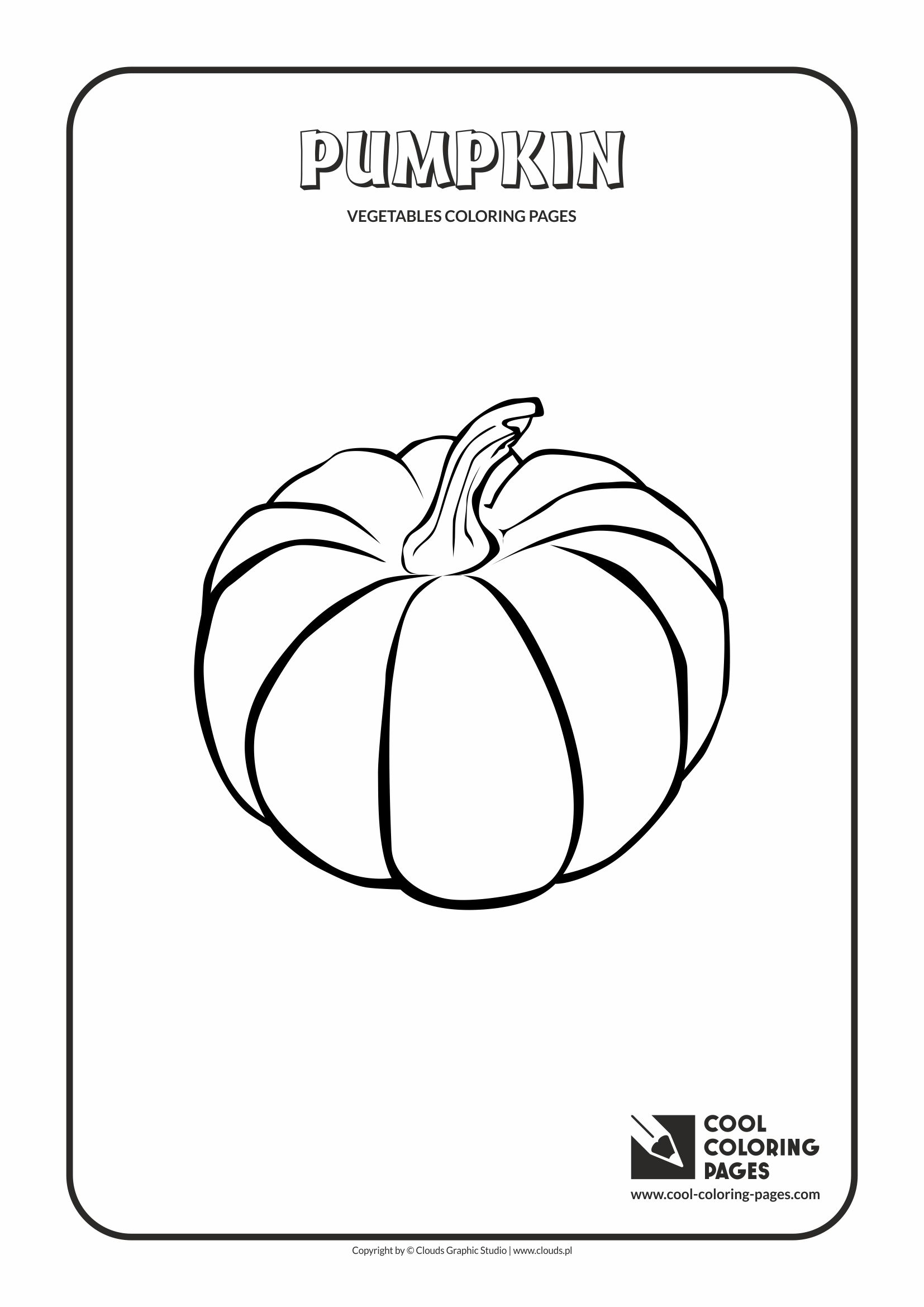 Cool Coloring Pages - Plants / Pumpkin / Coloring page with pumpkin