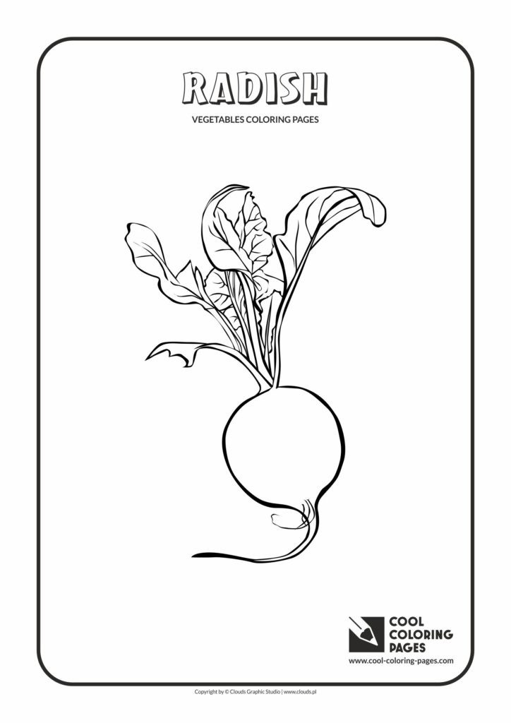Cool Coloring Pages Radish coloring