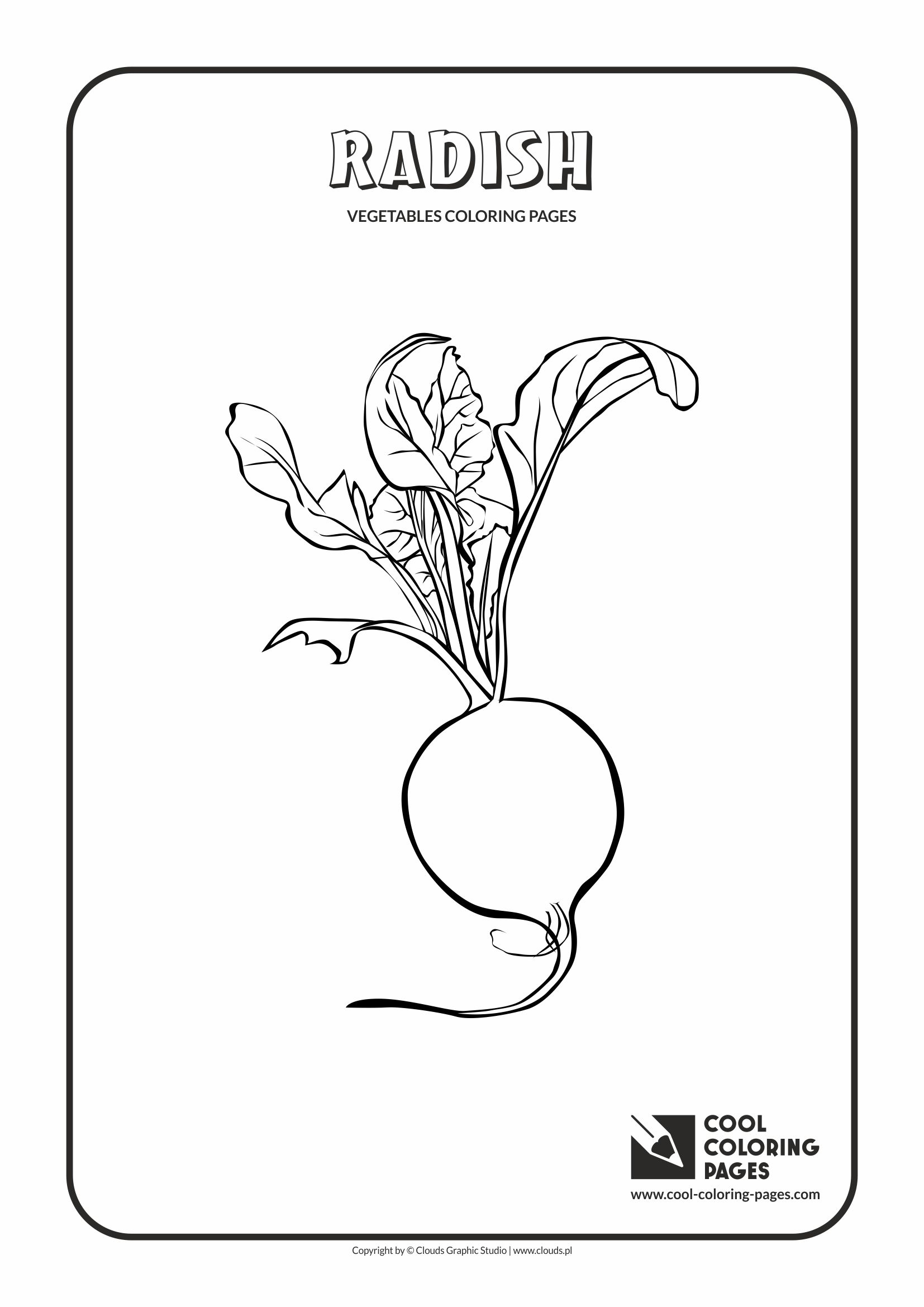 Cool Coloring Pages - Plants / Radish / Coloring page with radish