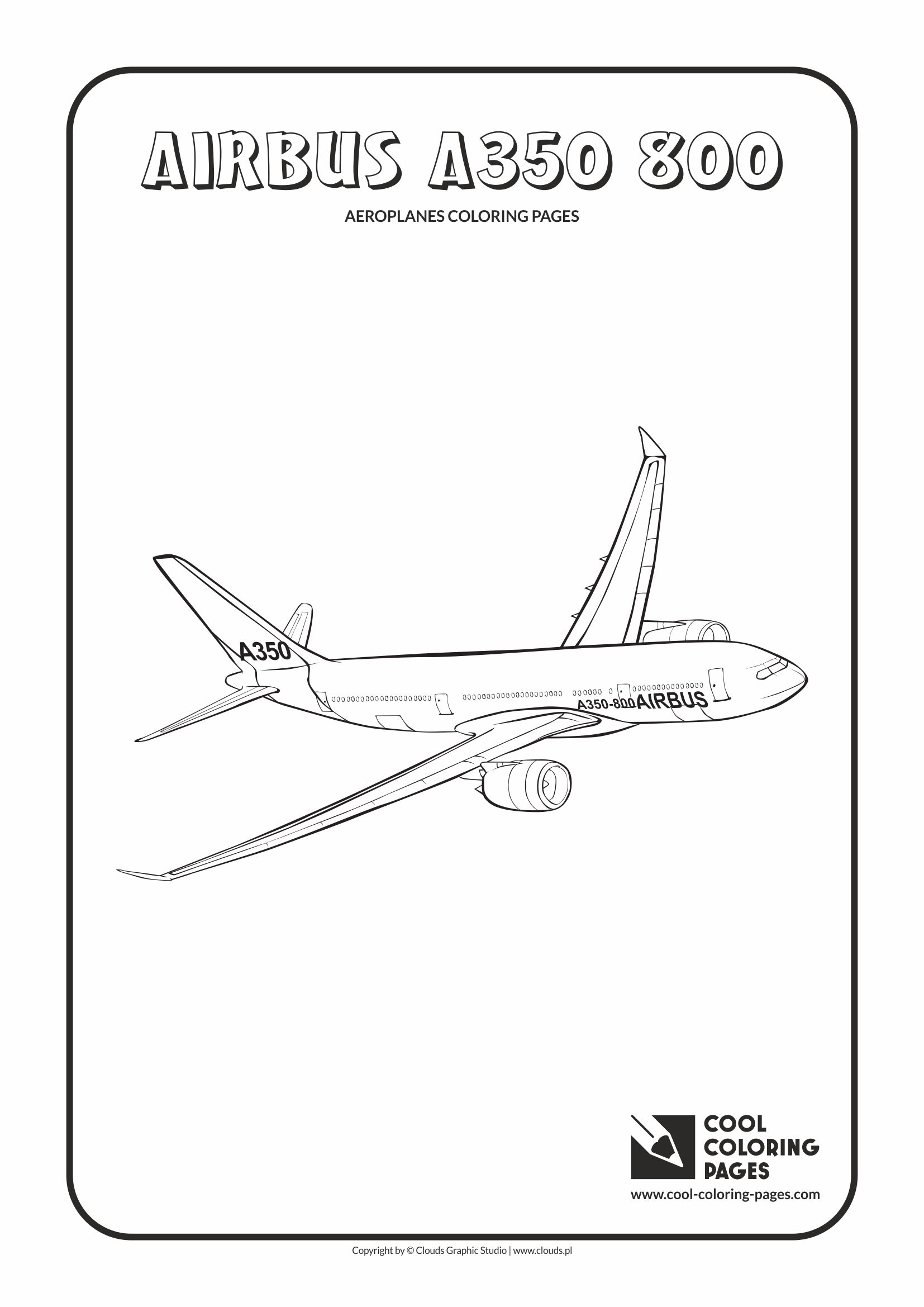 Cool Coloring Pages - Vehicles / Airbus A350 800 / Coloring page with Airbus A350 800