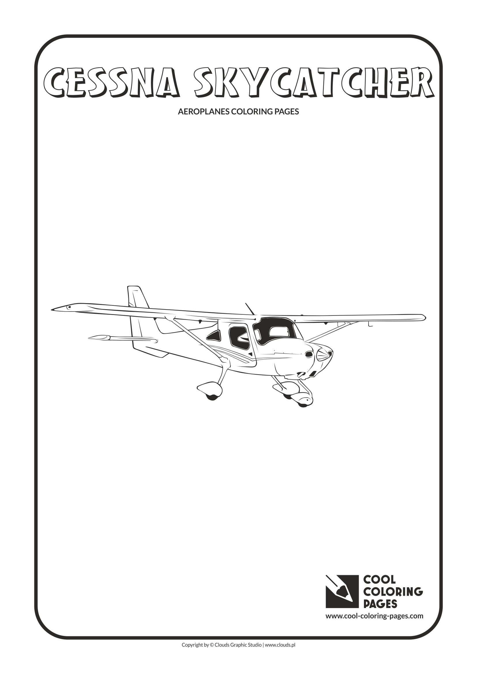 Cool Coloring Pages - Vehicles / Cessna Skycatcher / Coloring page with Cessna Skycatcher