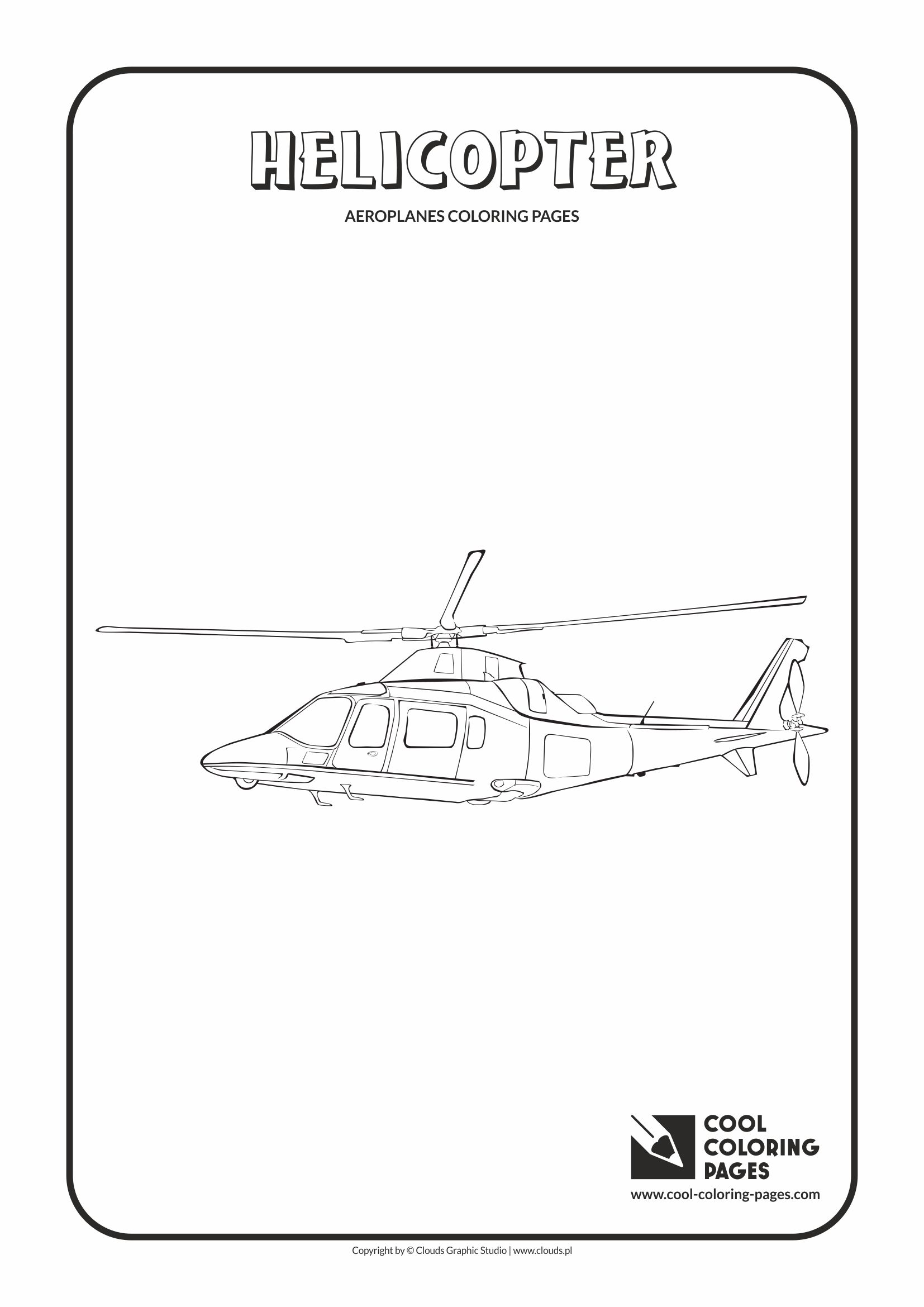 Cool Coloring Pages - Vehicles / Helicopter / Coloring page with helicopter