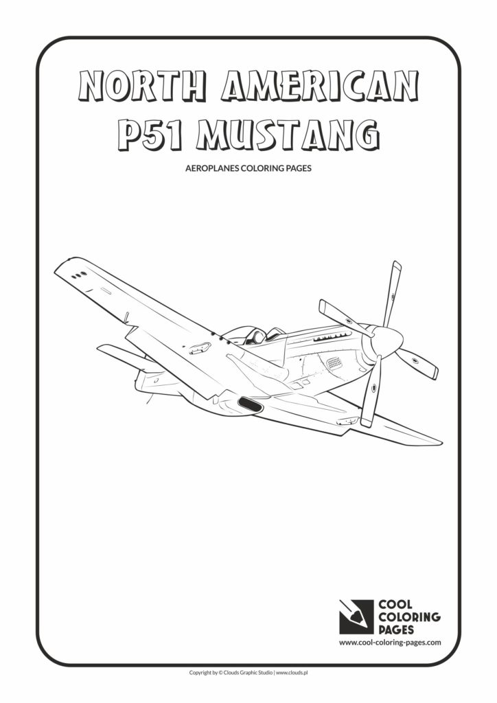 Cool Coloring Pages North American P-9 Mustang coloring page - Cool ...