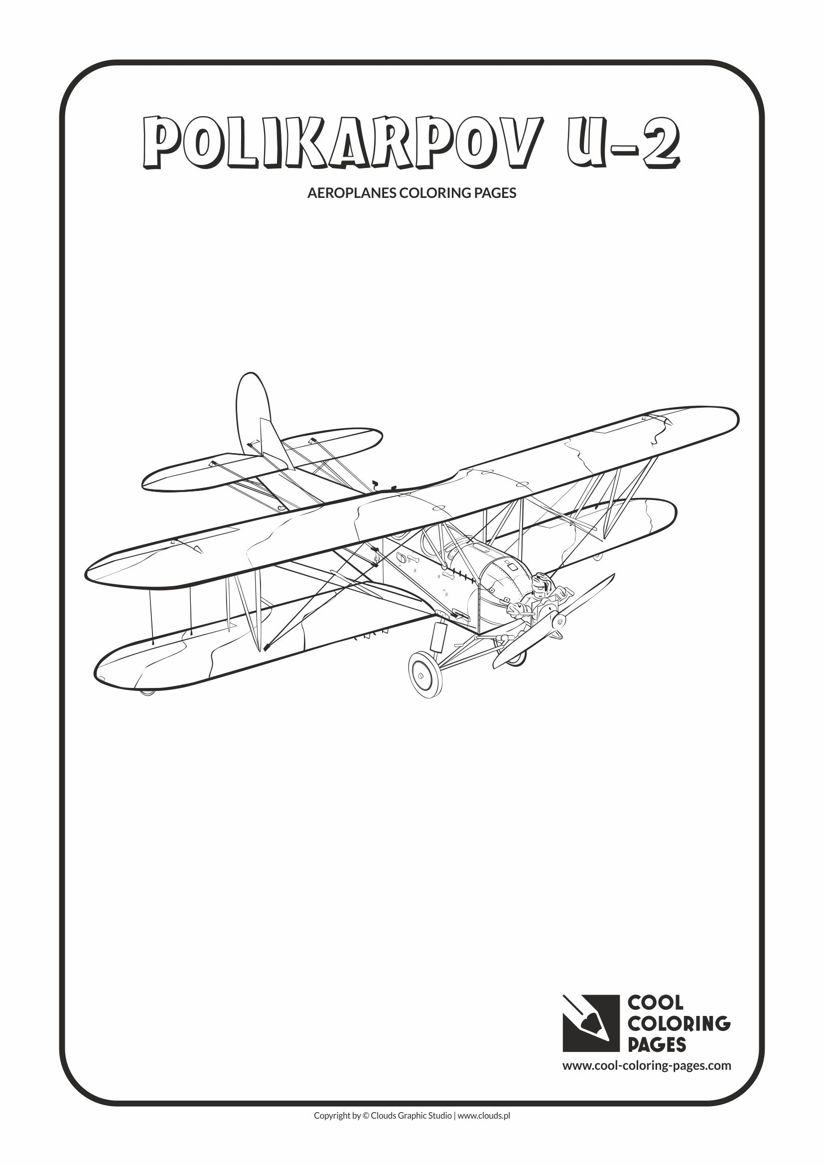 Cool Coloring Pages - Vehicles / Polikarpov U-2 po-2 / Coloring page with Polikarpov U-2 po-2